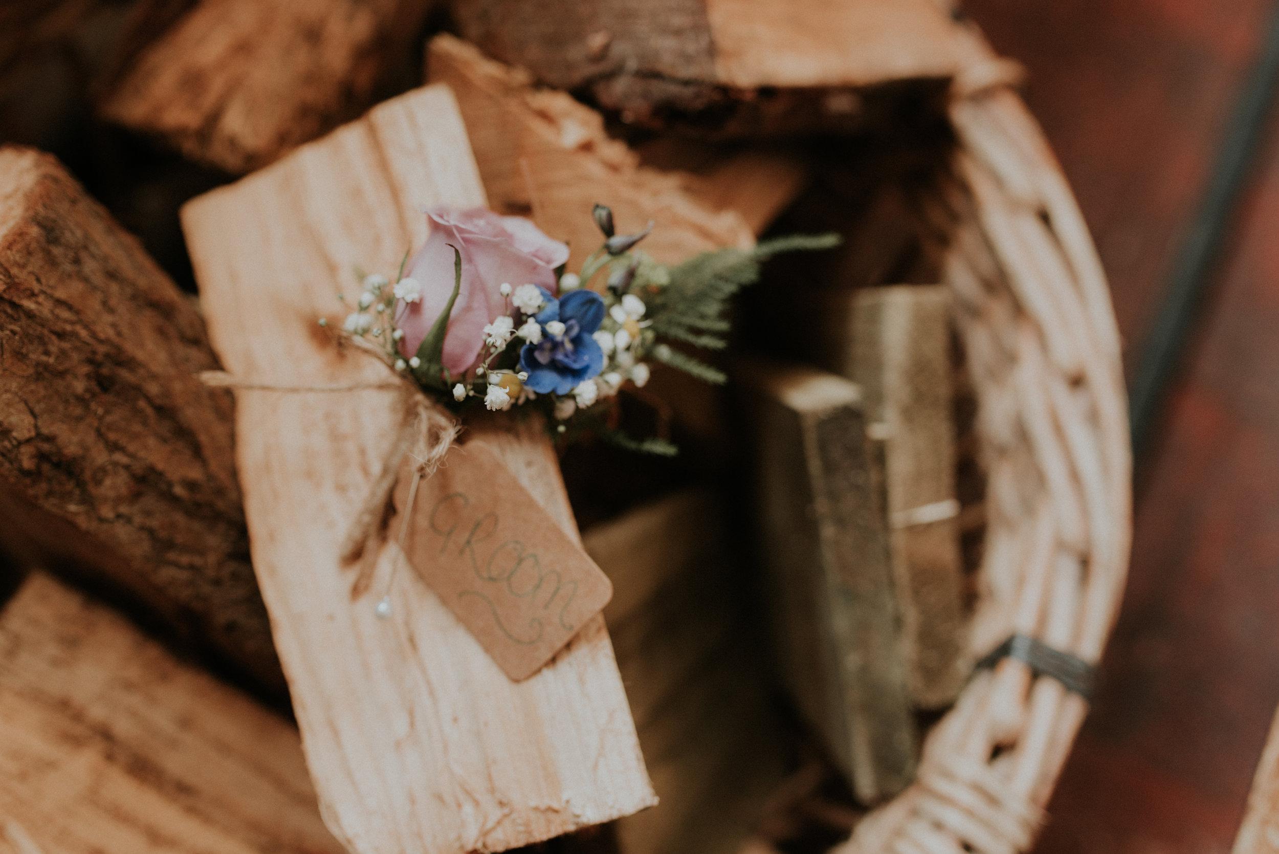 Groom's buttonhole Berkshire