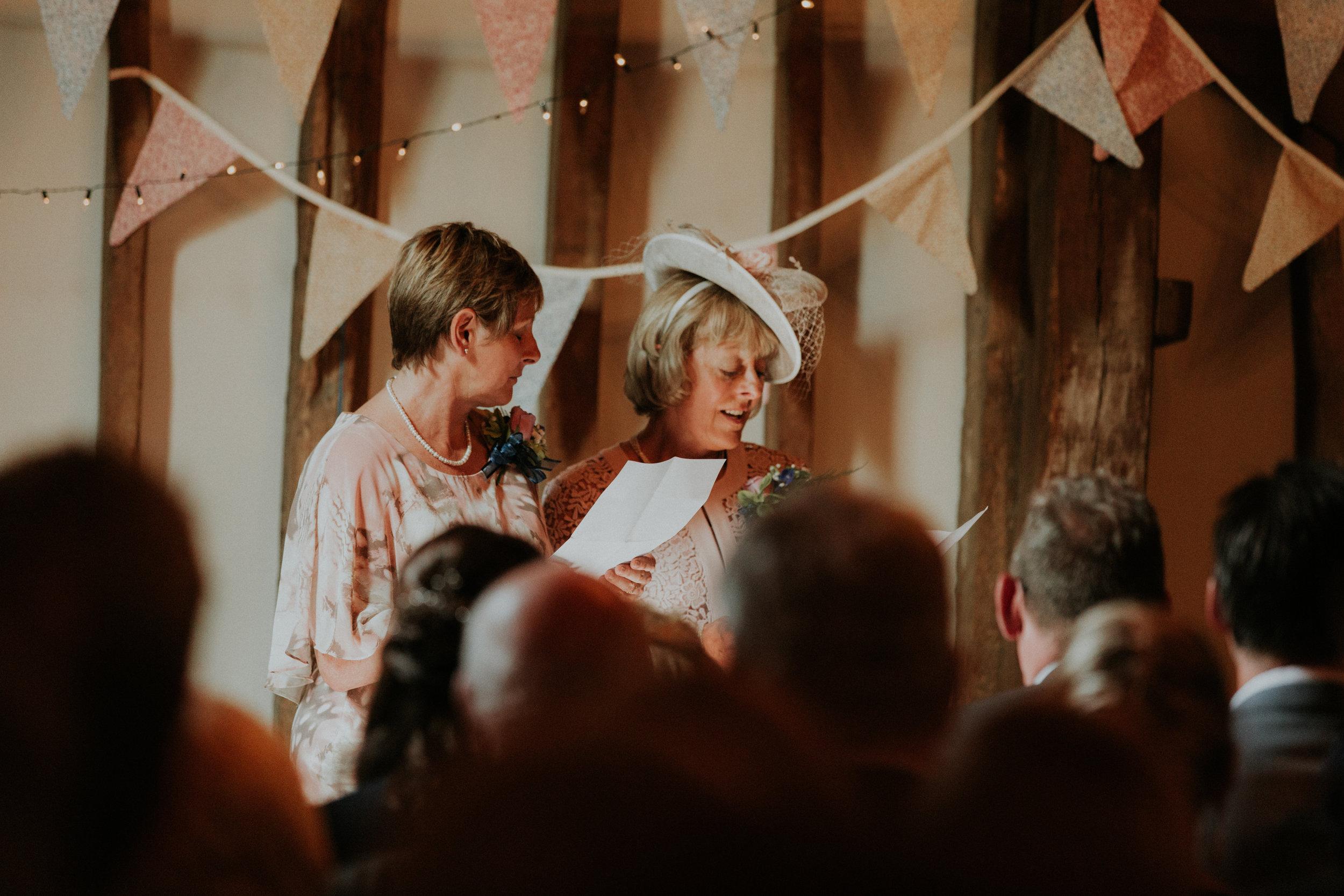 wedding reading during ceremony