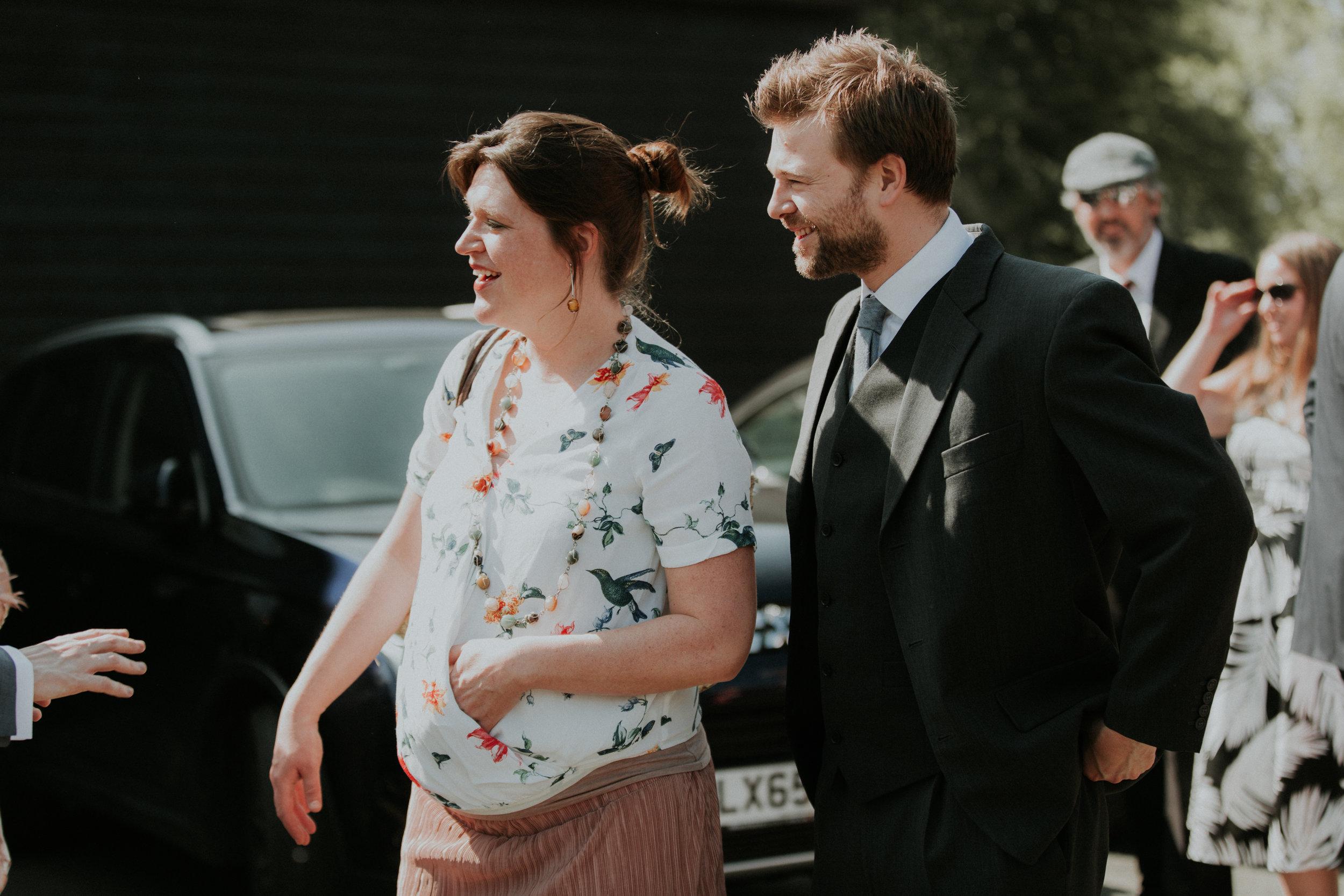 pregnant wedding guest