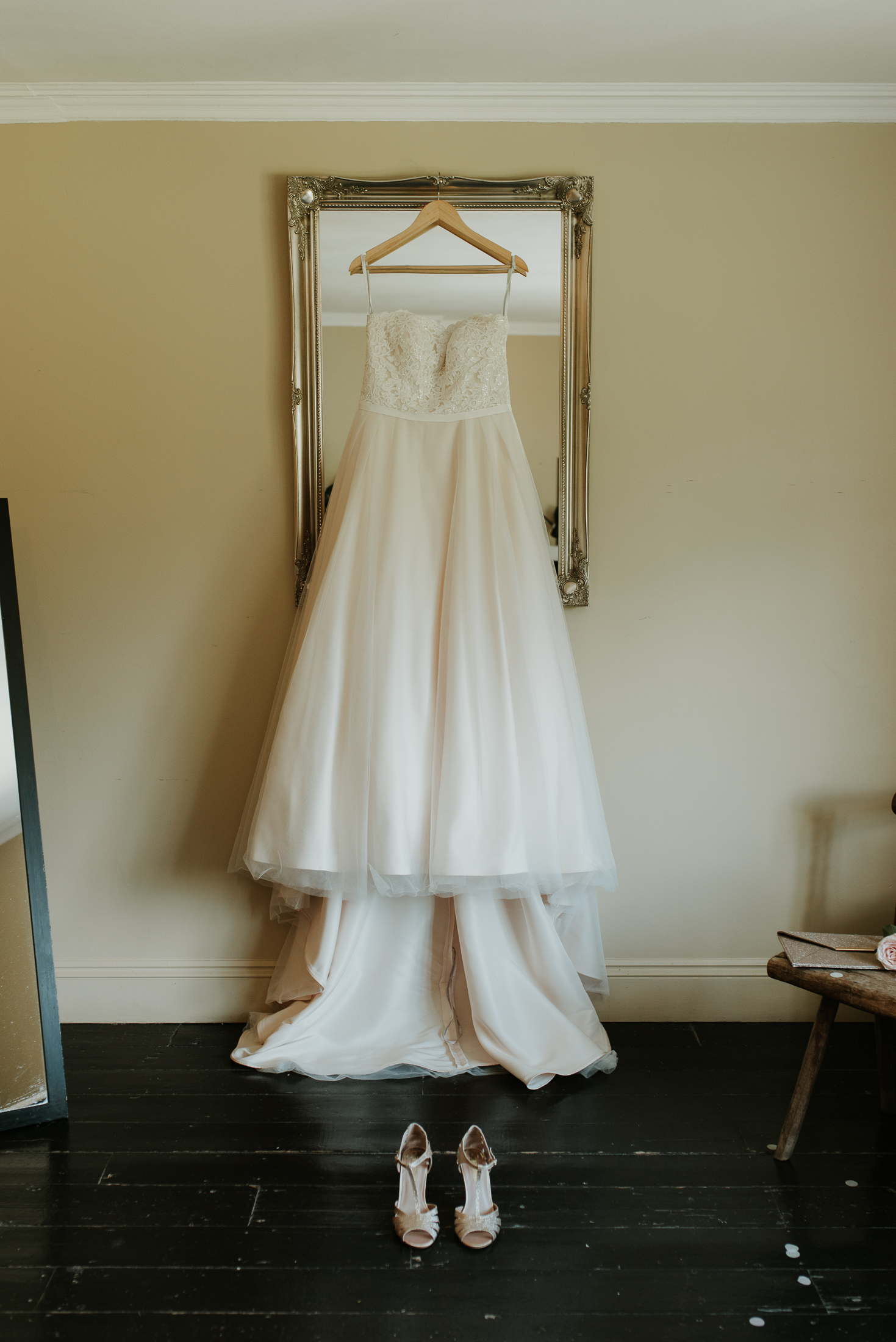 wedding dress at the Olde Bell Hurley