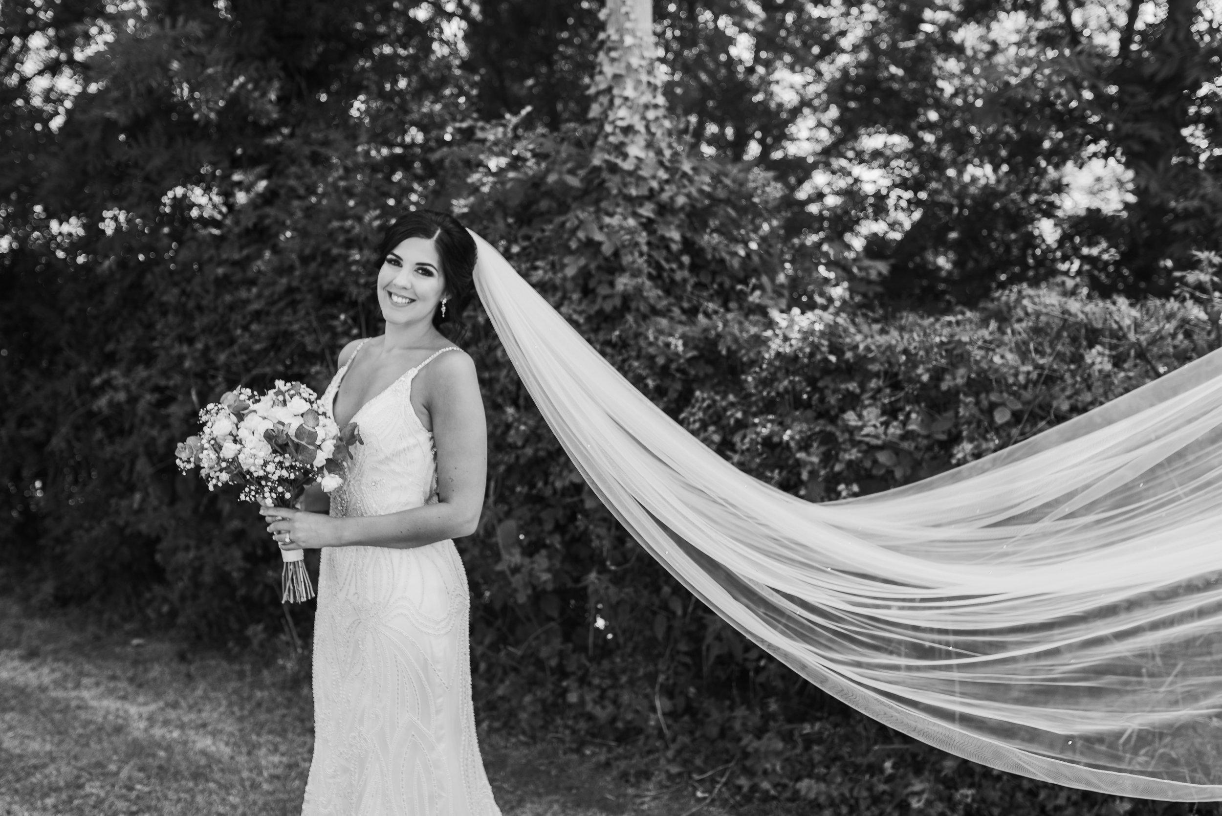 Bridal portrait Merriscourt
