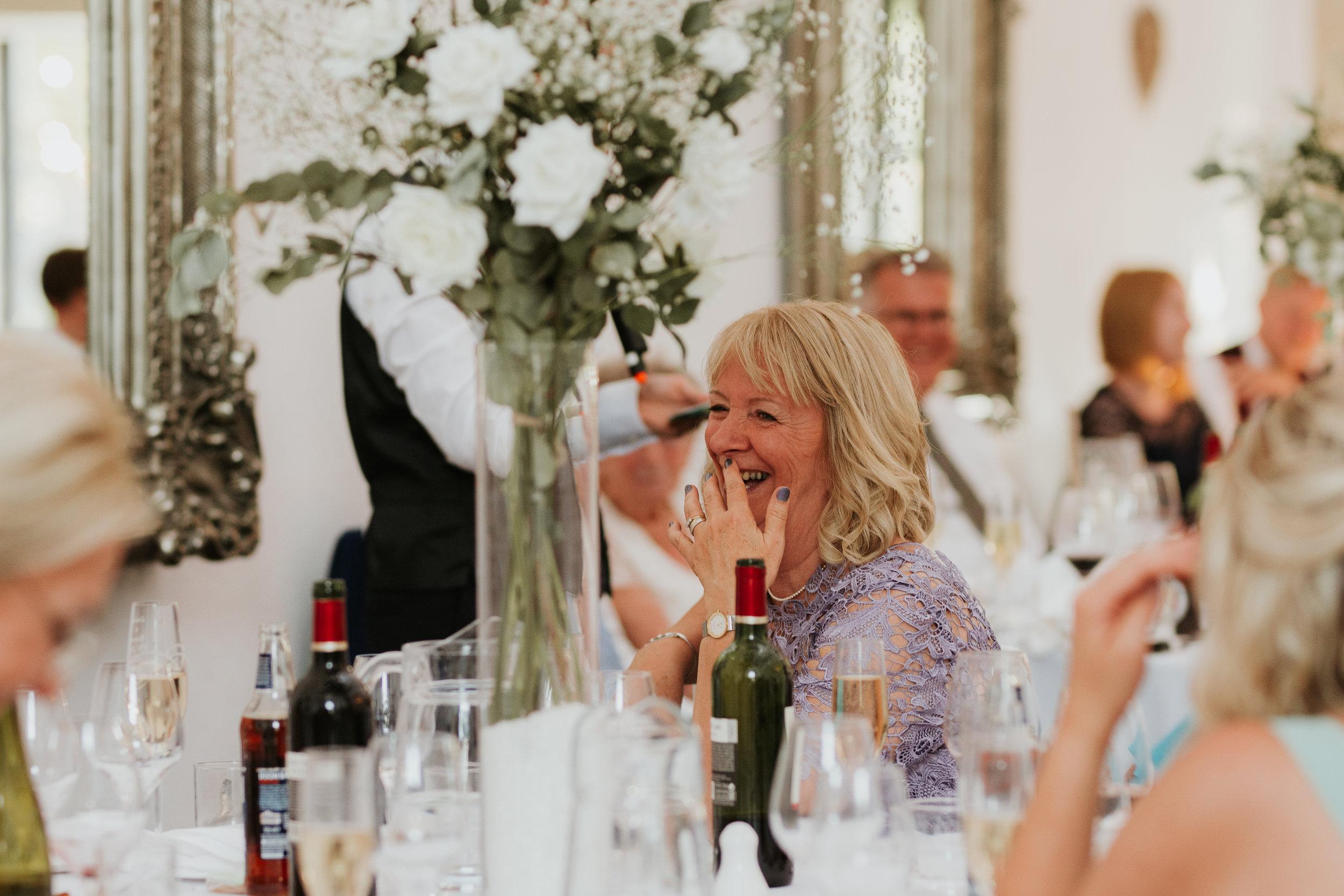 reaction to wedding speech