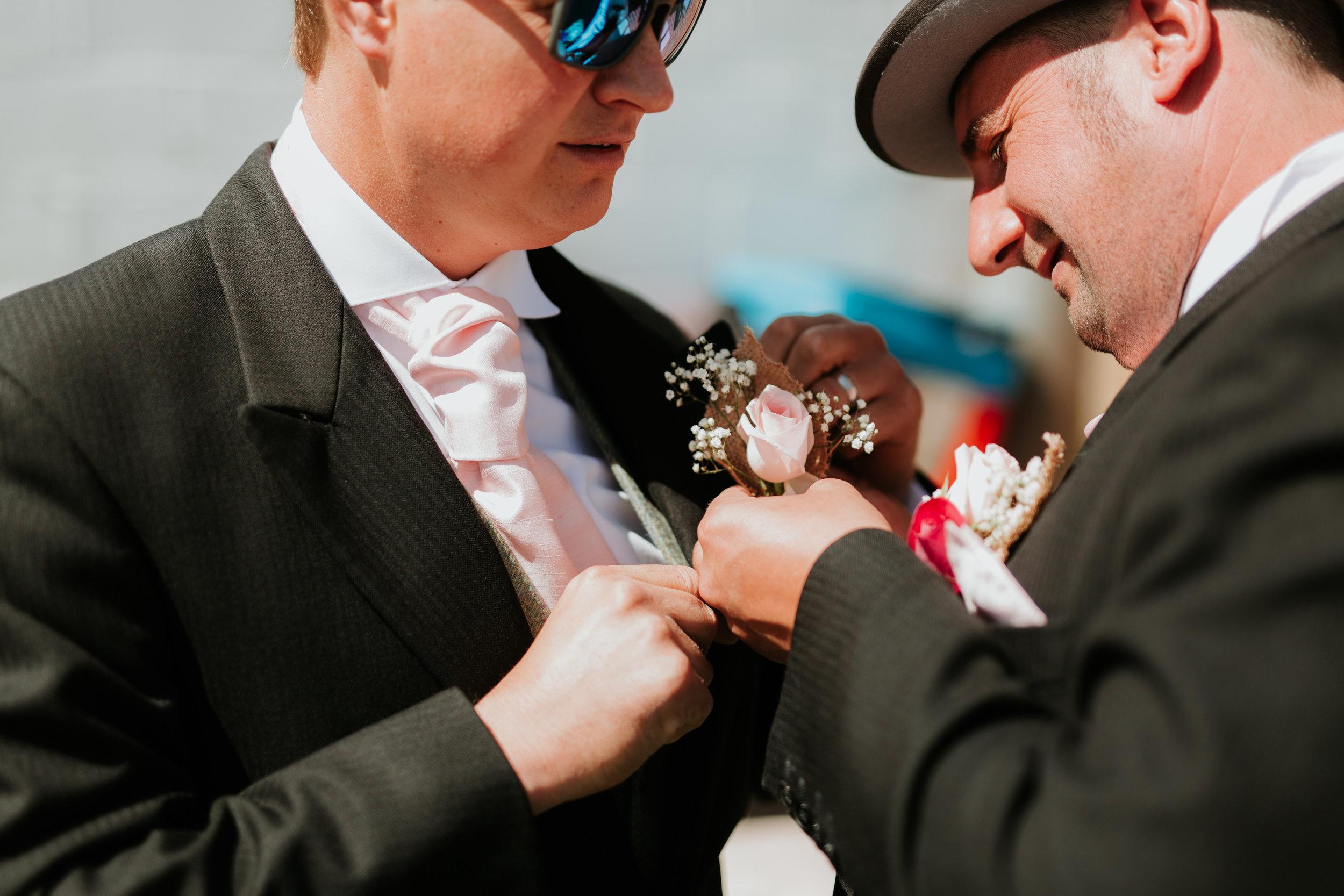 best man buttonhole