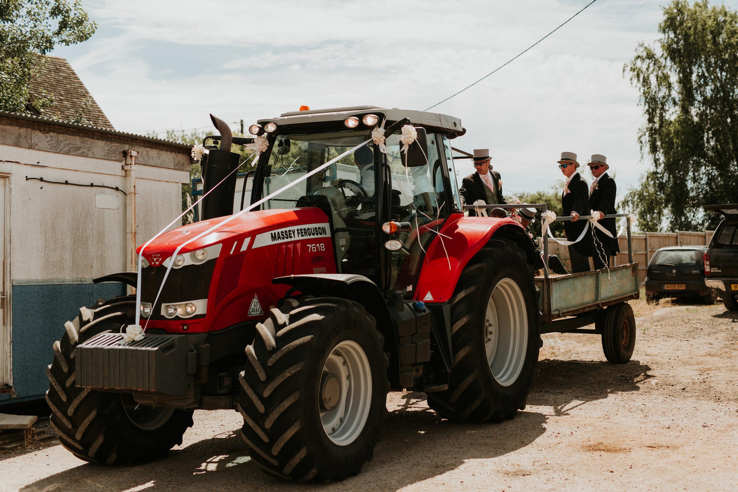 wedding tractor Berkshire