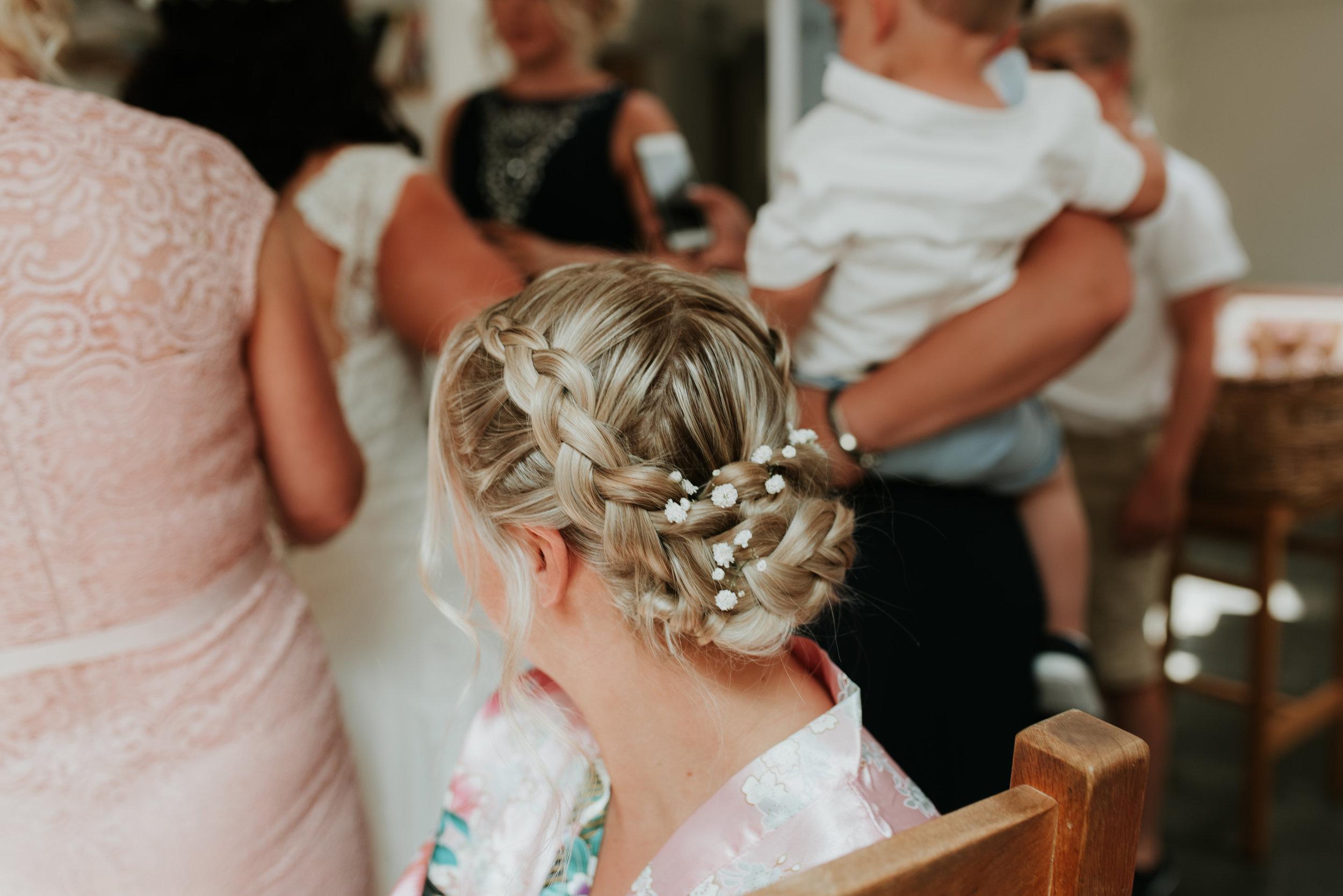 bridesmaids hair up Kate Gulley