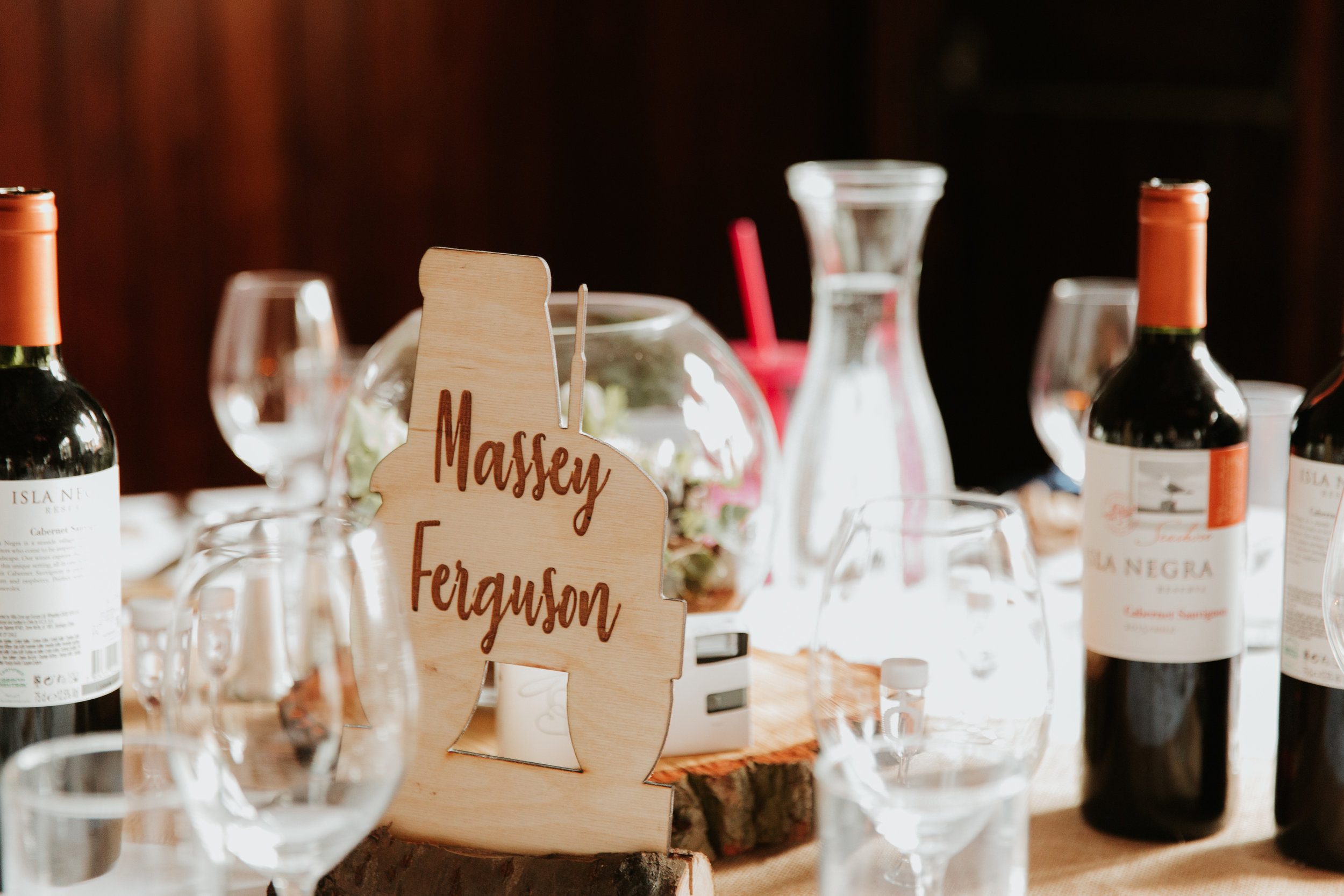 tractor wedding table names