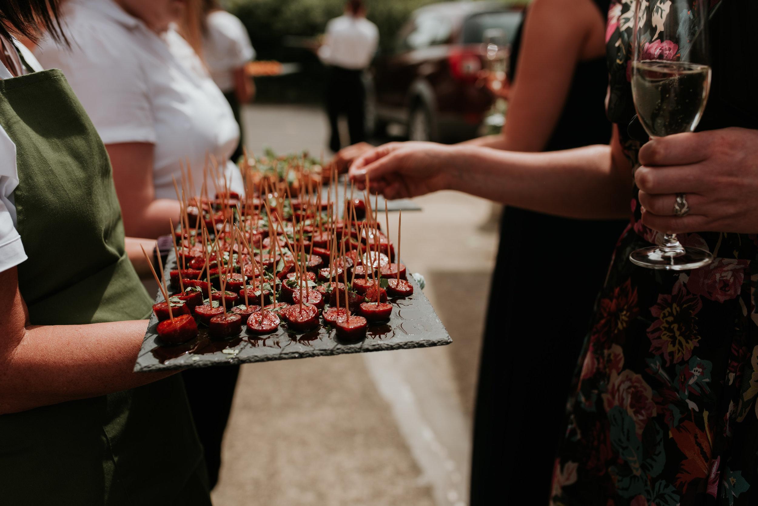 wedding canapés