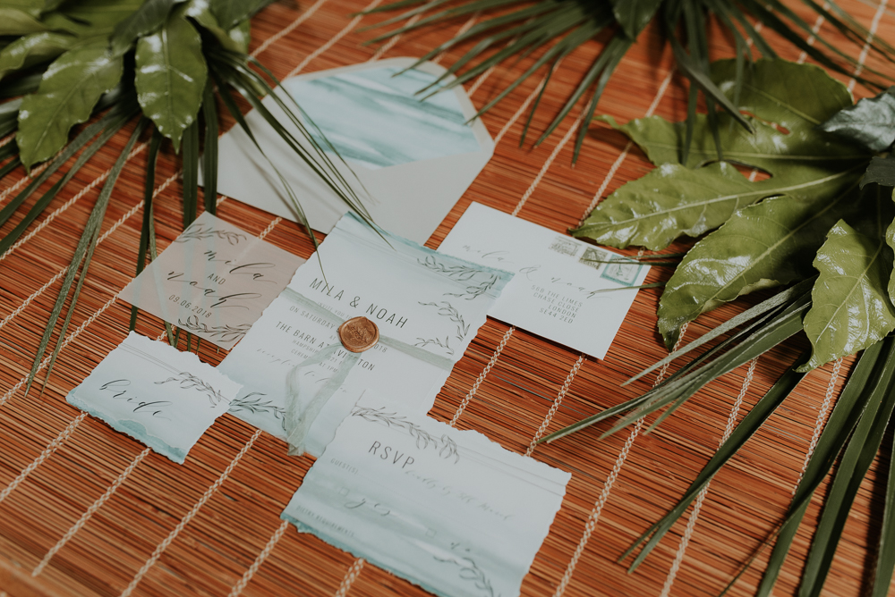 Beyond Vintage wedding stationary
