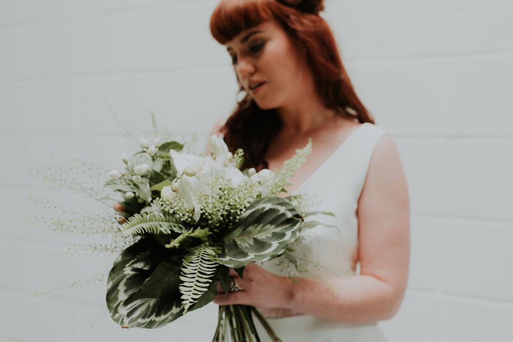 Twiggy Thistle wedding flowers