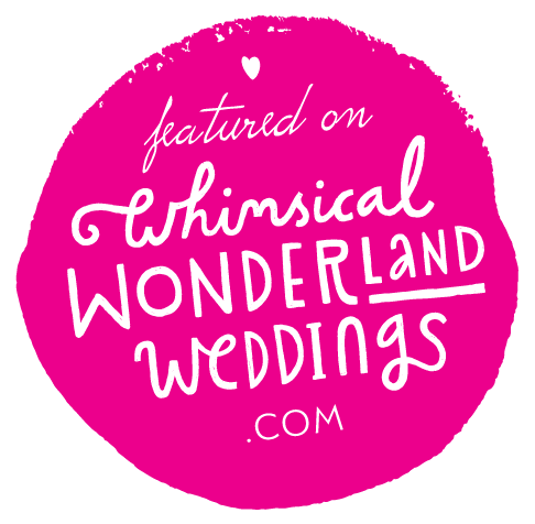 featured on Whimsical Wonderland Weddings