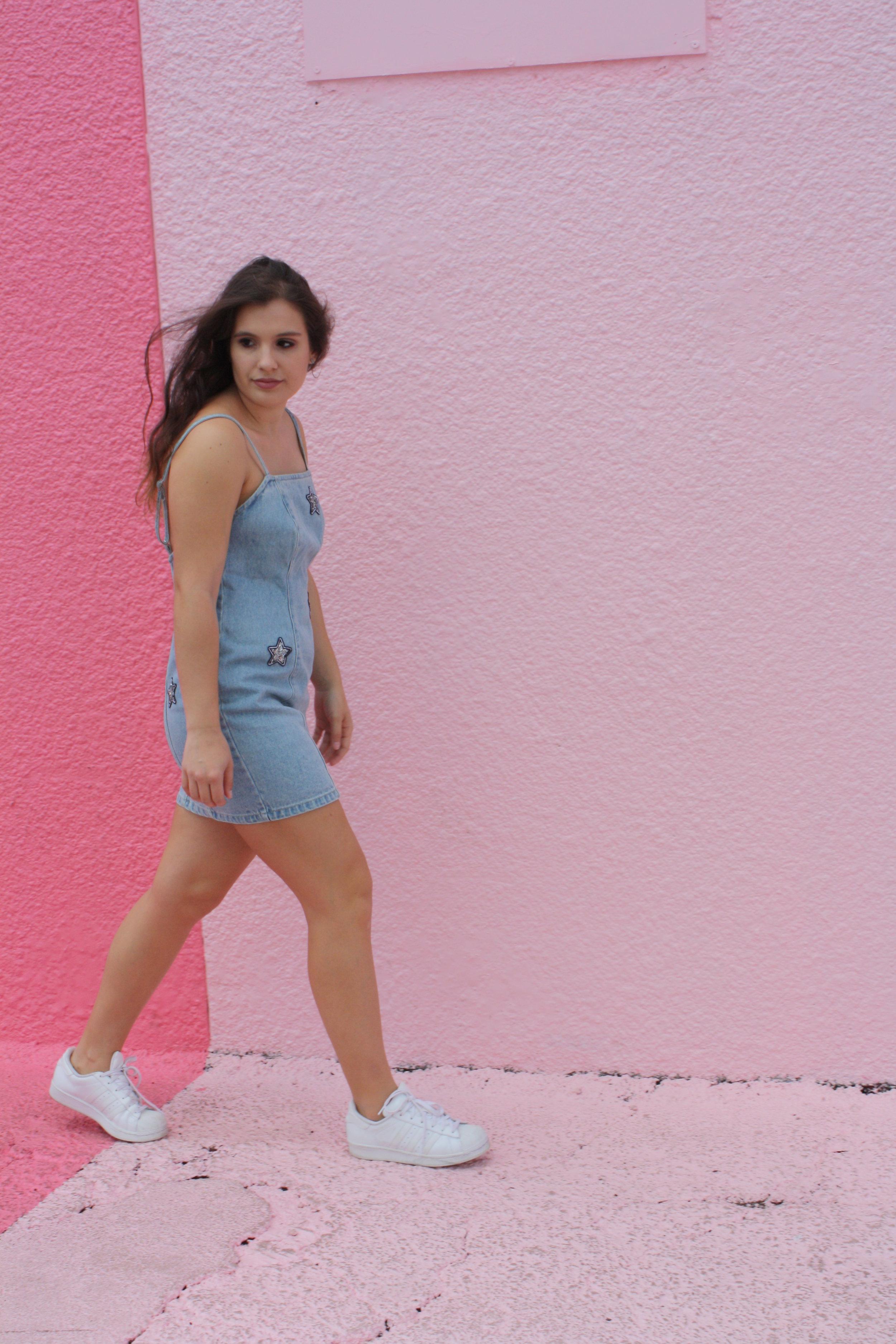 Dress: MINKPINK, Shoes: Adidas