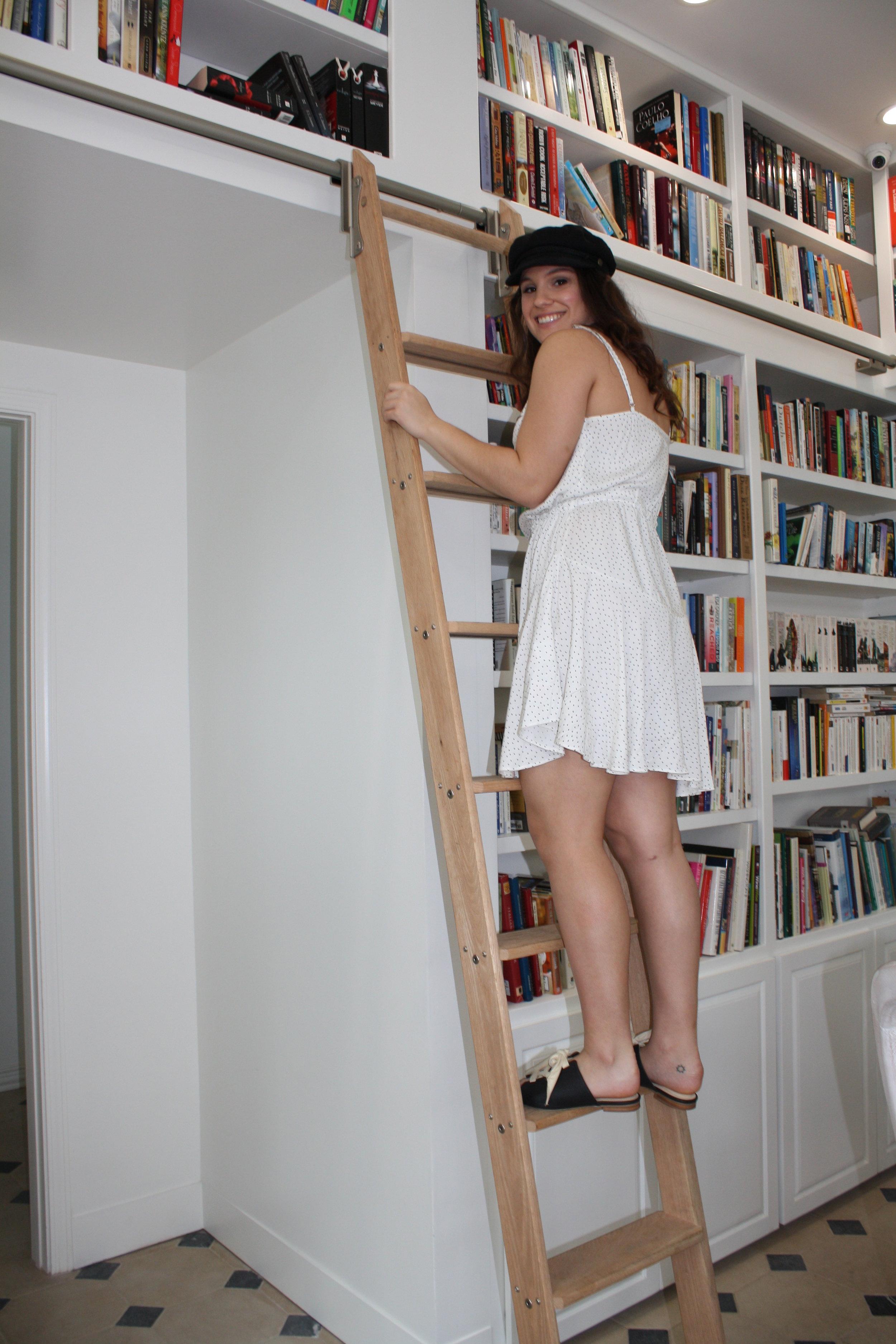 Hat: Brixton;Dress: MinkPink; Shoes: Matisse