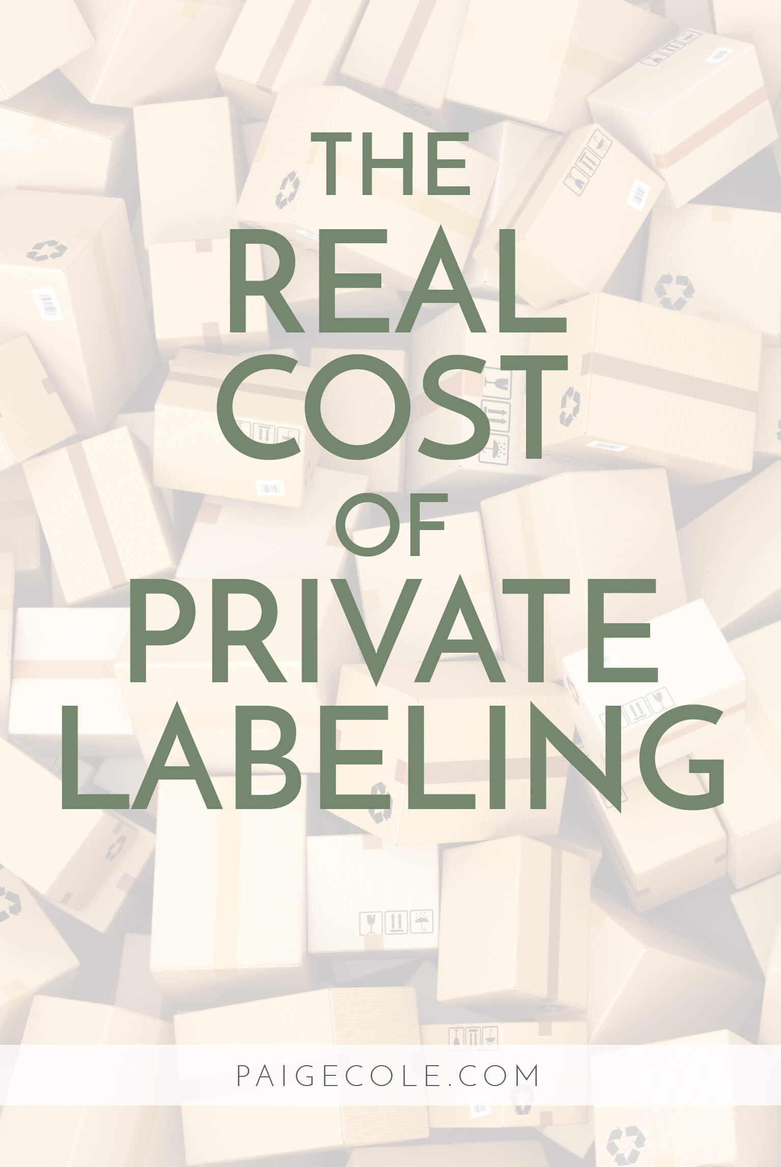 As wonderful as selling on Amazon is, no business venture has 0 costs, so this is the lowdown on the real cost of private labeling.