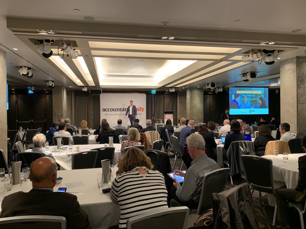 hammerjack Co-Founder and Director Nick Hastings talked about outsourcing for accountants in Australia in Strategy Day 2019 in Sydney.