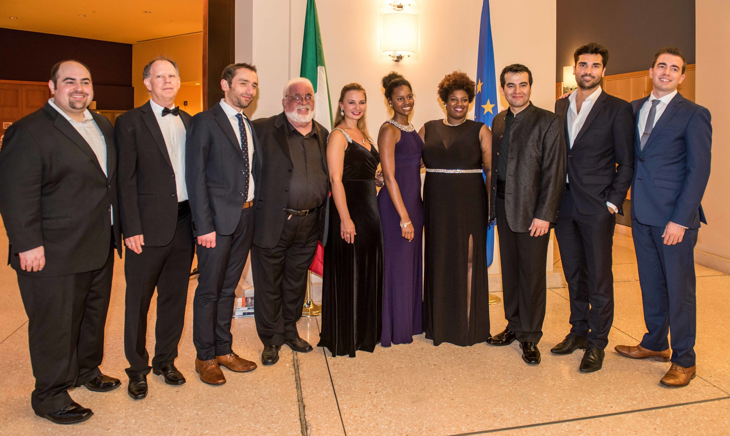 Left to Right: Matthew Woorman, Brad Clark, Emanuele Amendola, Louis Salemno, Yulia Petrachuk, Simone Brown, Symone Harcum, Javier Arrey, Jonathan Tetelman, Christopher Koelzer