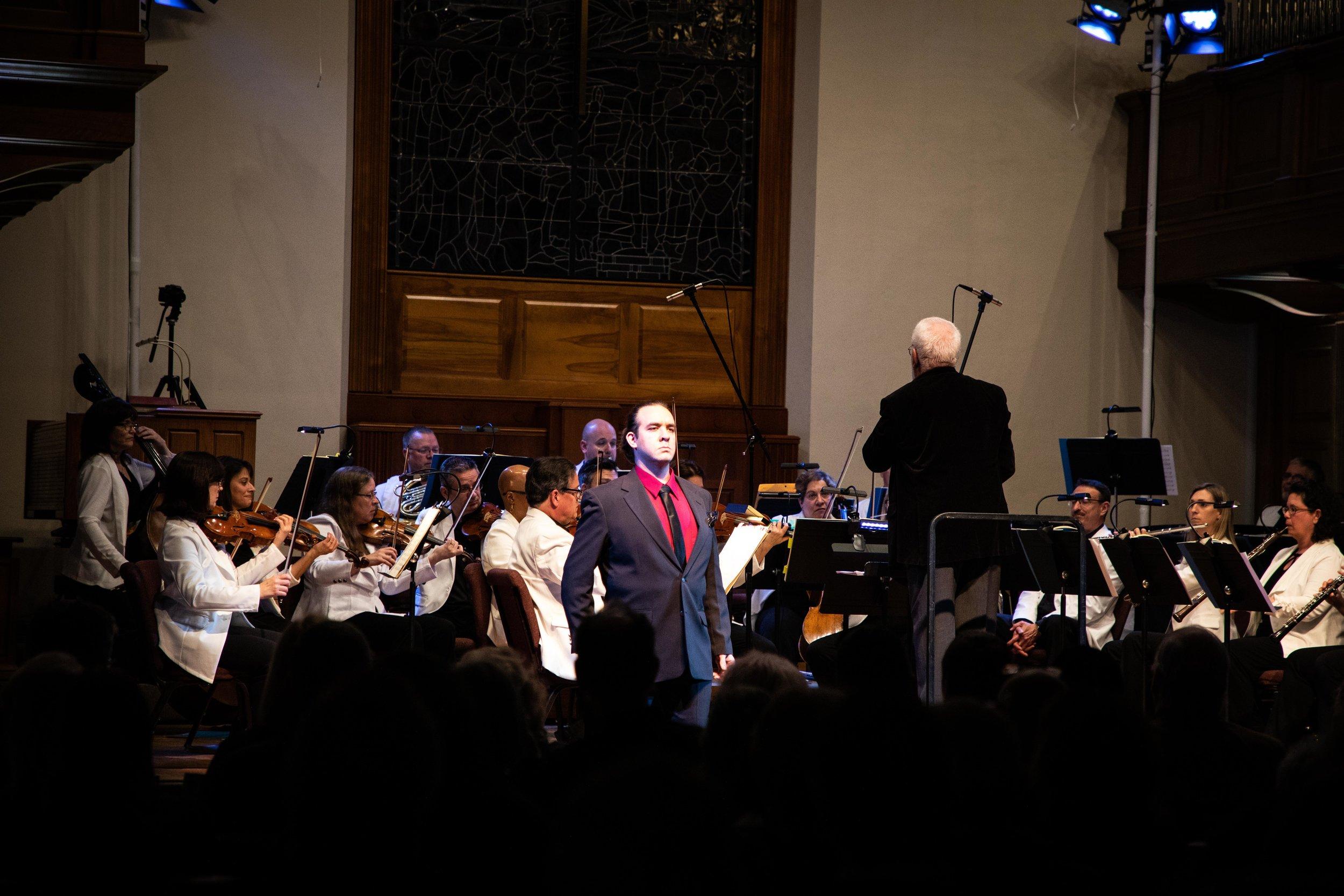 Tenor Joseph Michael Brent, MDLO Orchestra