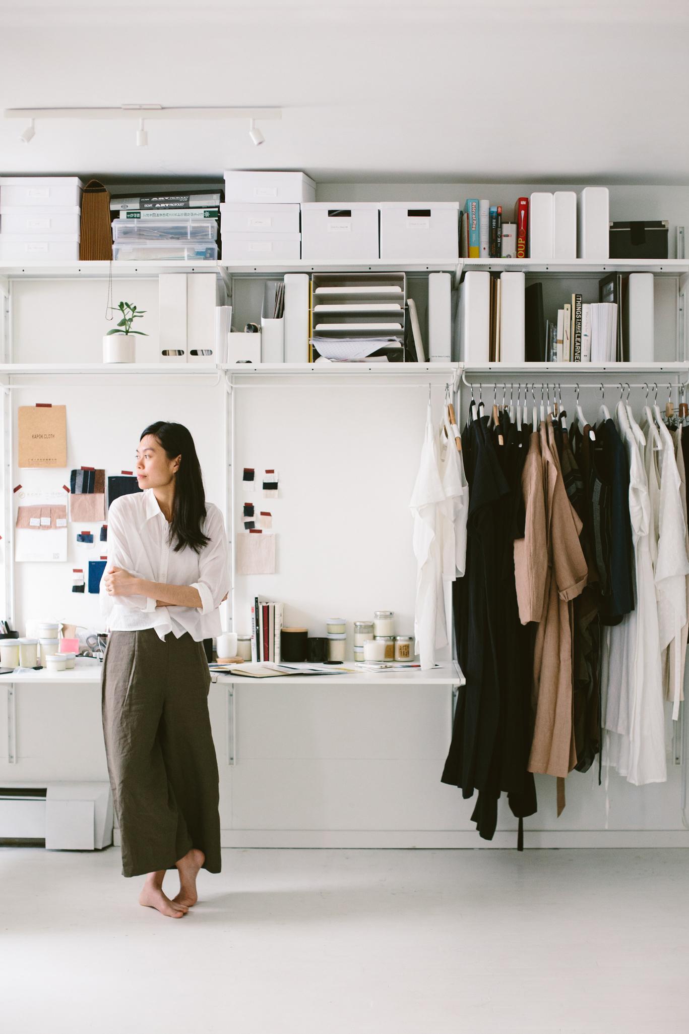 Szeki Chan in her New York studio