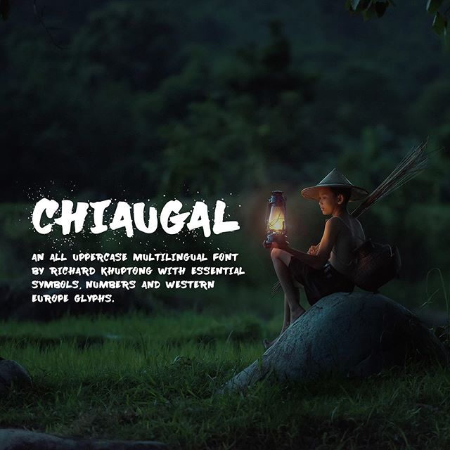 After #procrastinating for several #months finally I will be finishing off my new font called #Chiaugal This is a preview of what the type would look like. More details to follow. Special thanks to @sasintipchai for the beautiful photographs