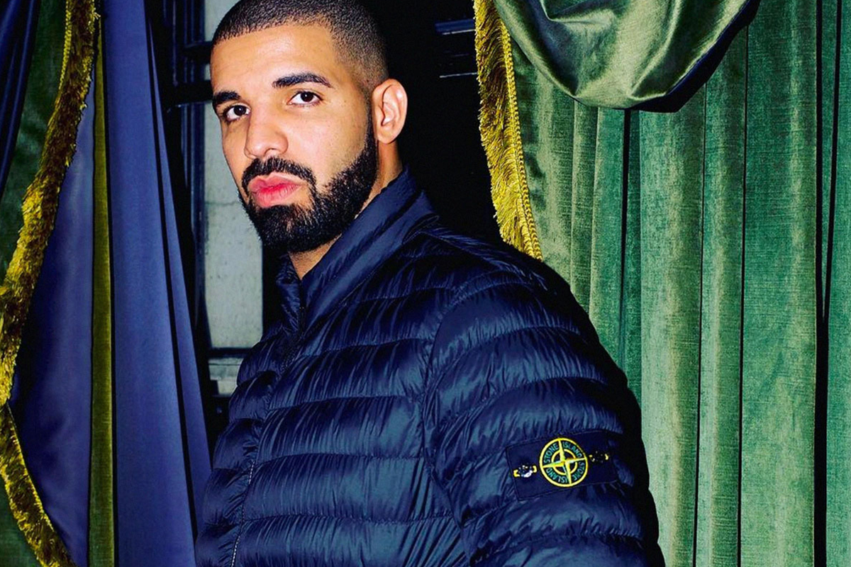 Drake, often dressed in Stone Island has been highly influential to the brand's recent success.