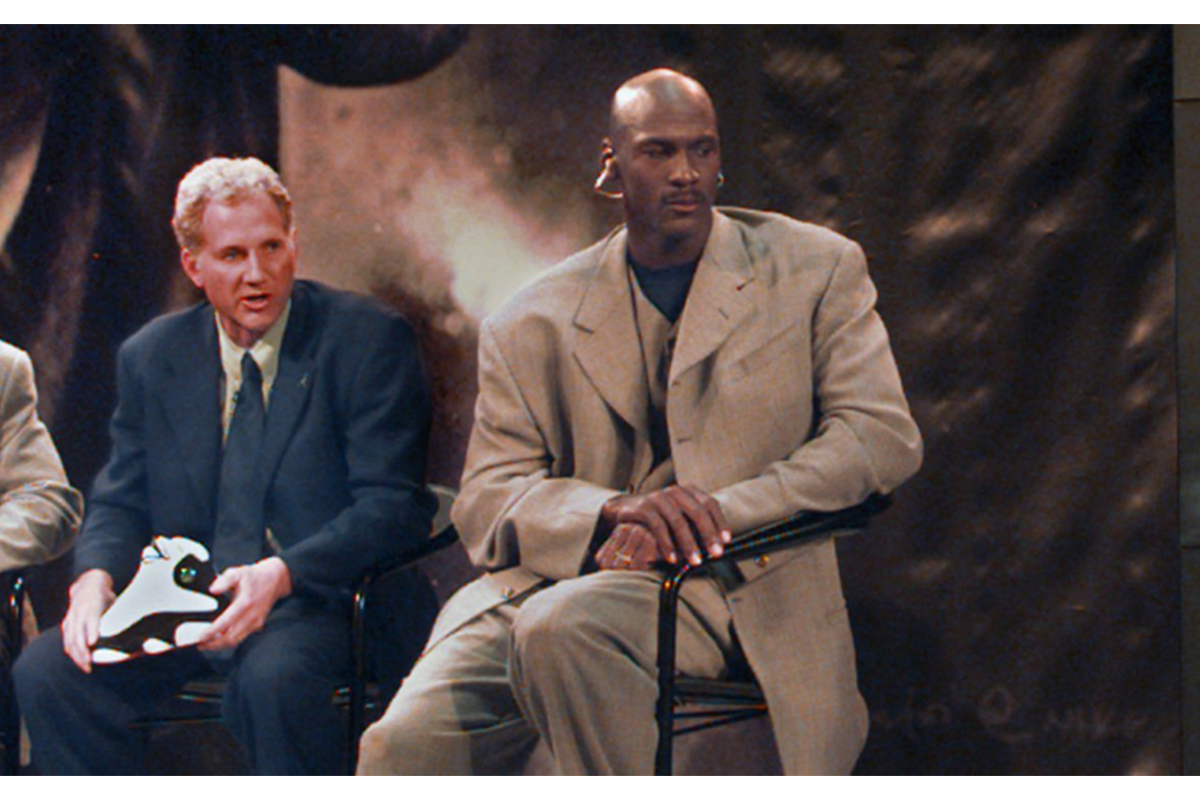 Tinker Hatfield & Michael Jordan. Photo: Footwear News