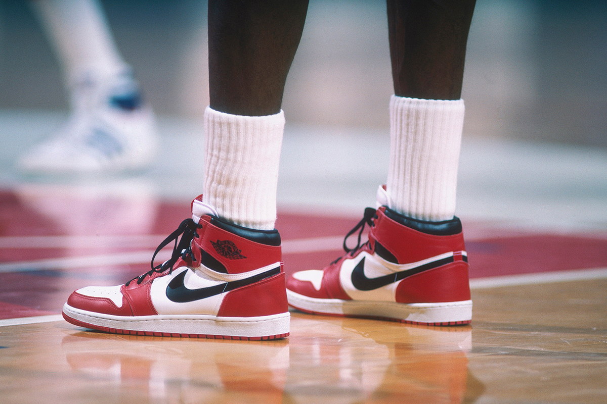 The Air Jordan 1 'Chicago' as worn by Michael Jordan. Photo: The Guardian