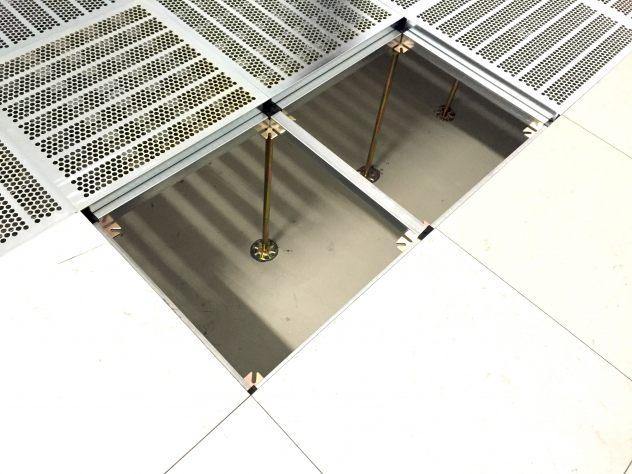 LüftungsplattenStahl für Doppelboden im Rechenzentrum ohne Belag Marmorette LCH-LPX