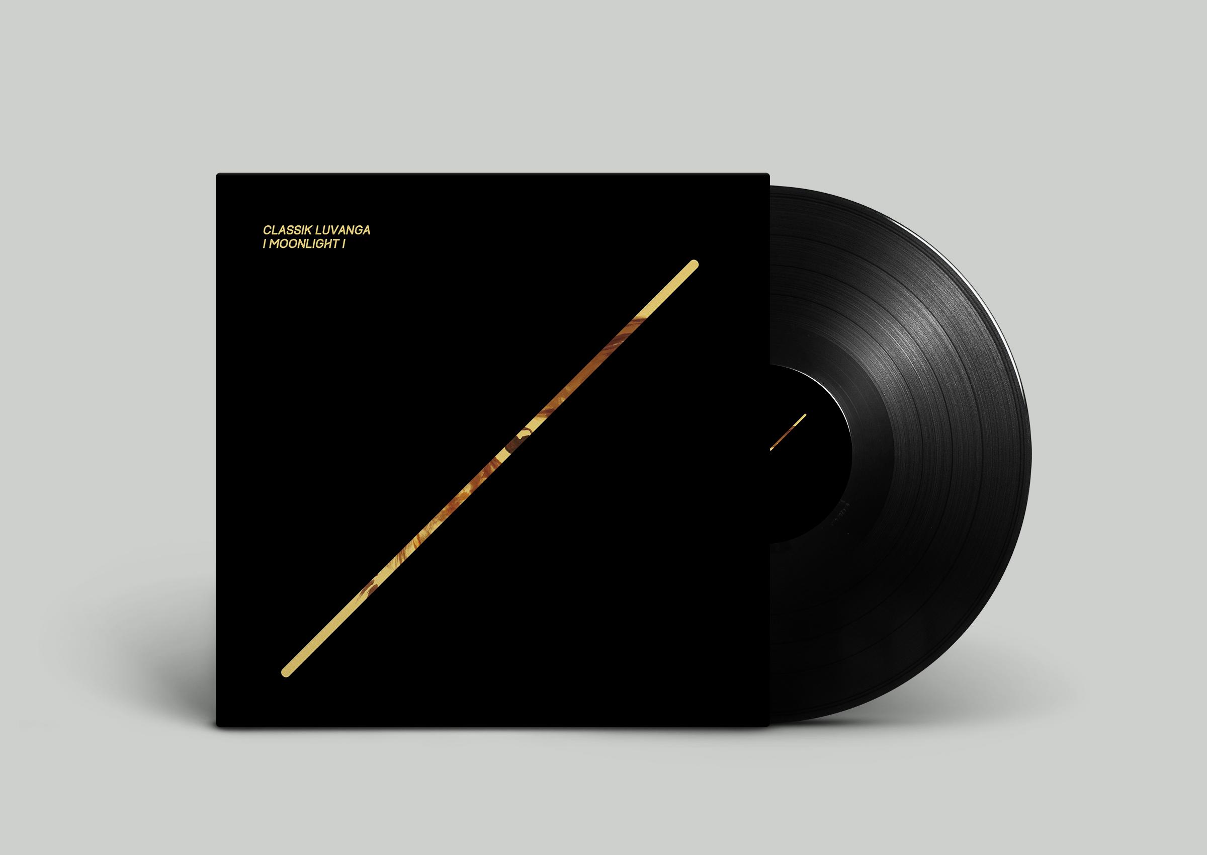 """LP cover design Classik Luvanga """"Moonlight""""  Label : Colors Records, Switzerland  Switzerland. 2015"""