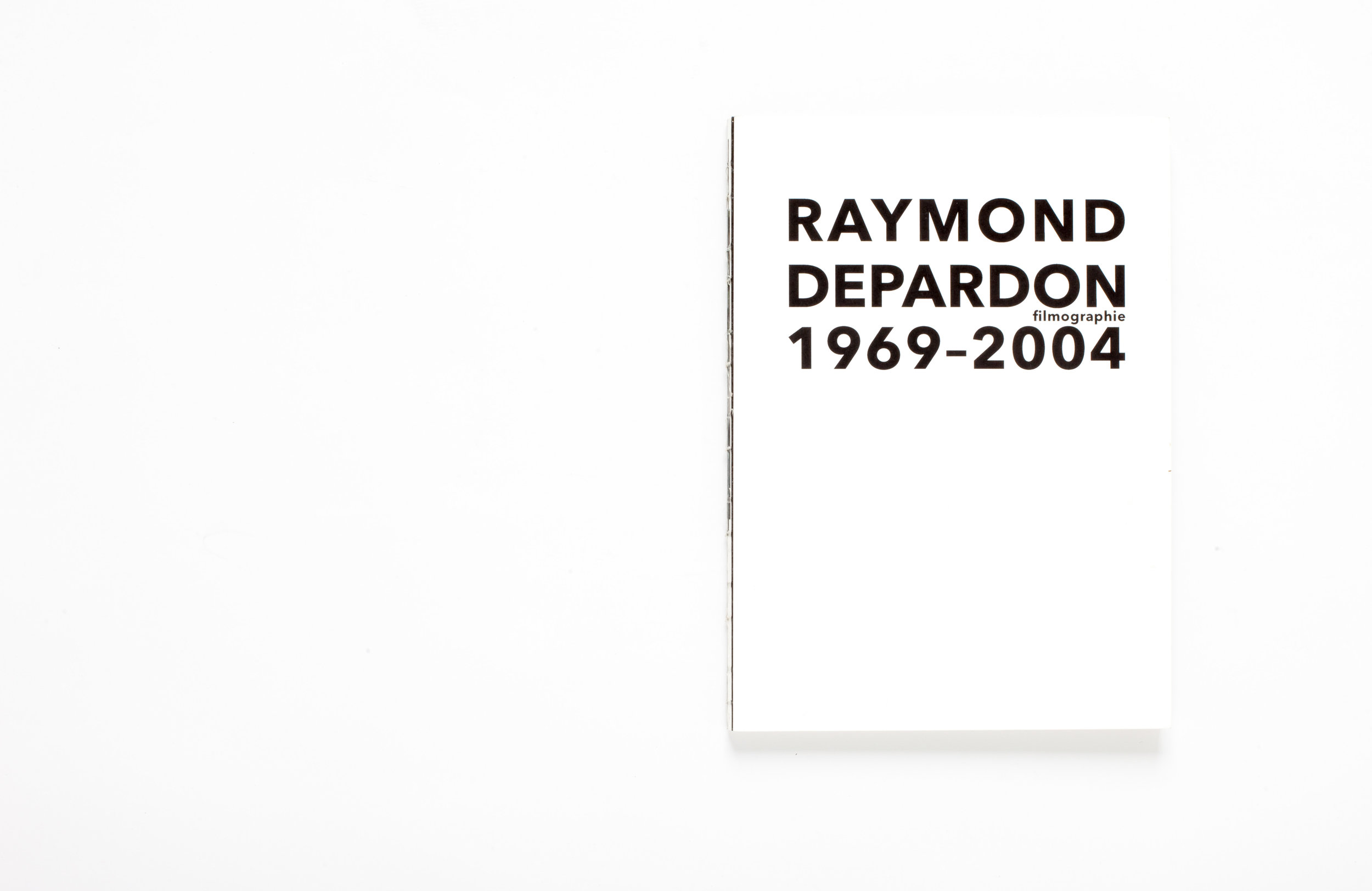 Editorial design. Raymond Depardon, French cinematographer filmography, 1969 – 2004.  Switzerland. 2014