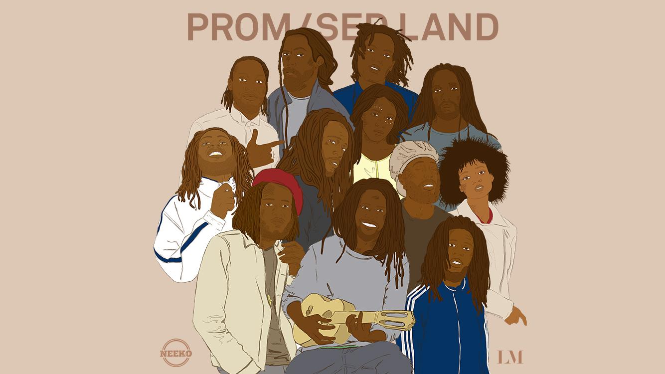 Promised Land  Mixtape  cover design.  Switzerland - U.K. 2017  >  Download  Iphone wallpaper