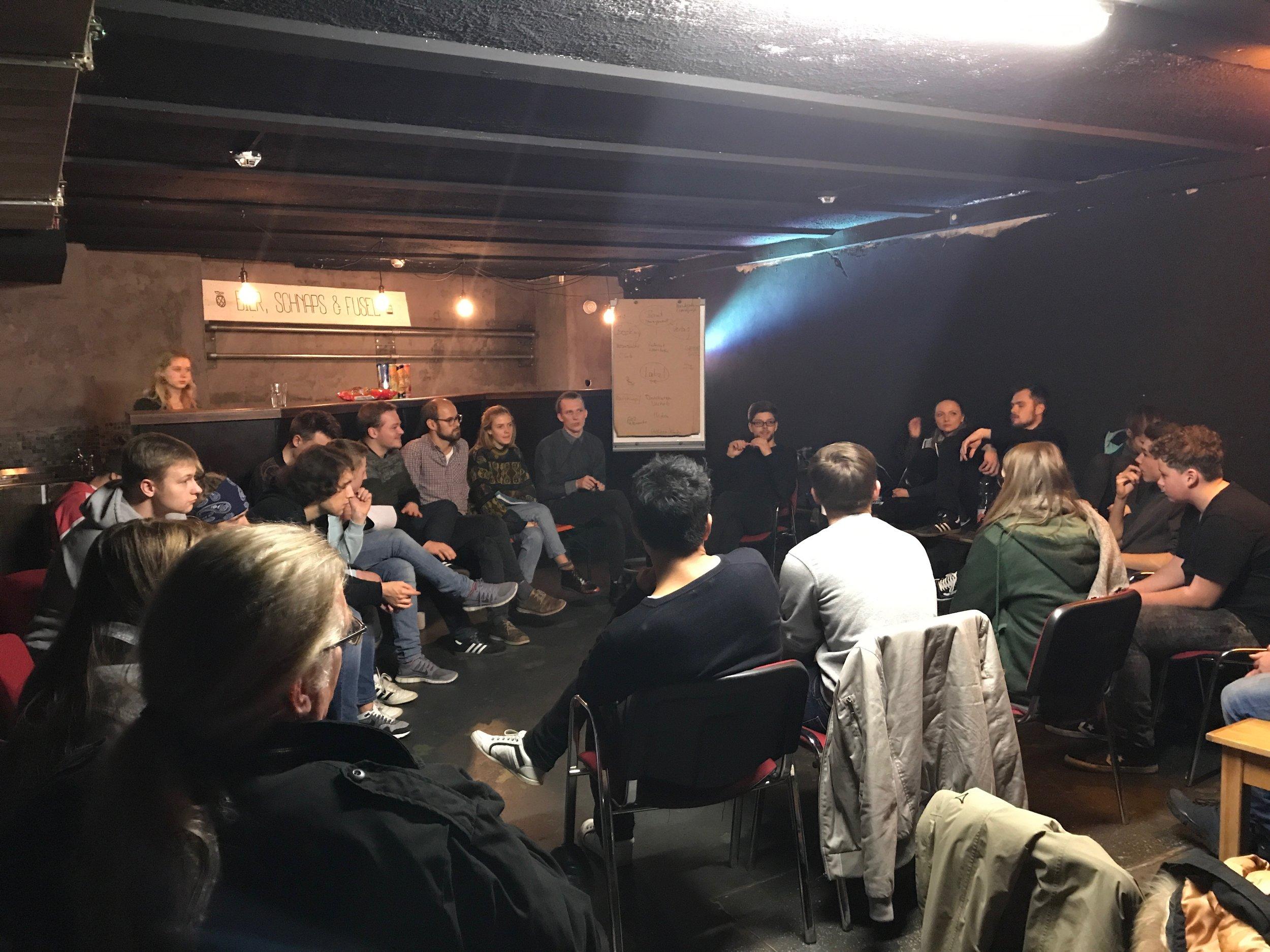 Infotalk-Runde zum Musikbusiness, Projekt EINS.jpg