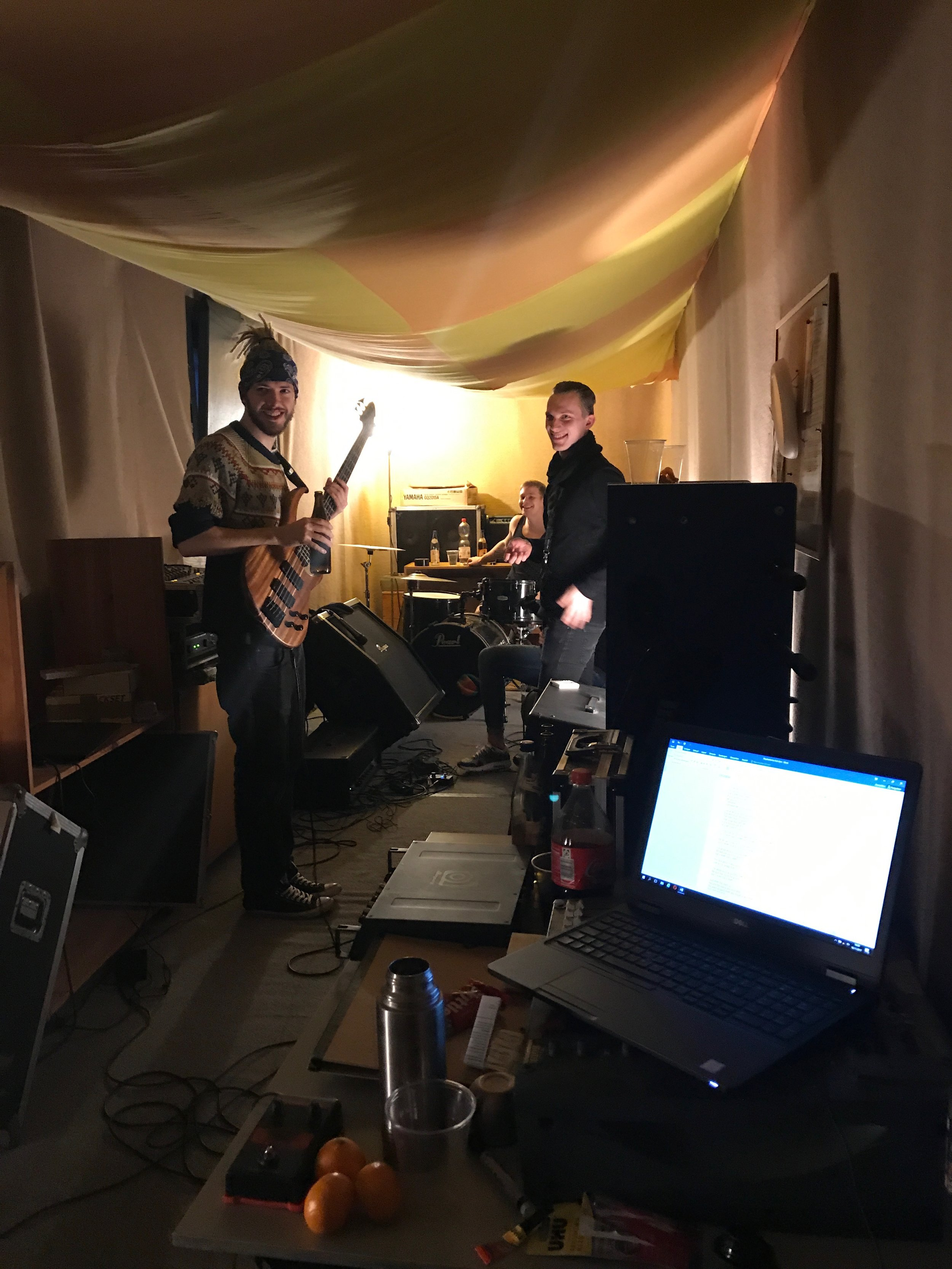 Cthulhu Roadkill mit Coach Jan Listing, Probensession.jpg