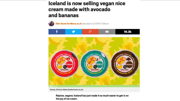 ICELAND IS NOW SELLING VEGAN NICE CREAM