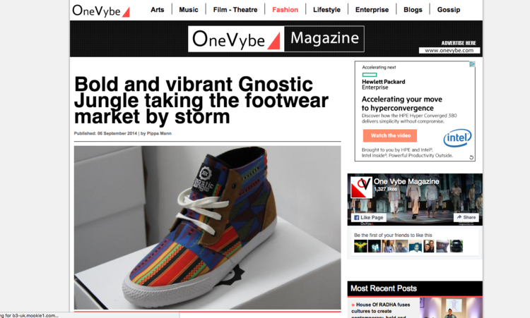 ONEVYBE - 'TAKING THE FOOTWEAR MARKET BY STORM'