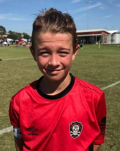 U13's goal scorer Broomfield