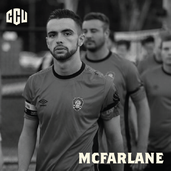 Team McFarlane - Daniel McFarlane was Central Coast United's first Club Captain. Daniel was a Killarney Vale Districts Soccer Club junior and is not only a player, but also one of our coaches. He has assisted the club for 4 years in the coaching programs that helped build the foundations of CCU. Daniel was voted the best senior player at the club and the best senior player in the State League in our inaugural year.Daniel coached his first junior teams in 2018. He has a passion for coaching the young kids, which is evident when many of his team come to CCU home games to support coach Dan. Daniel's involvement in many aspects of the club, and undisputable playing creativity are qualities that every CCU kid should aspire to.