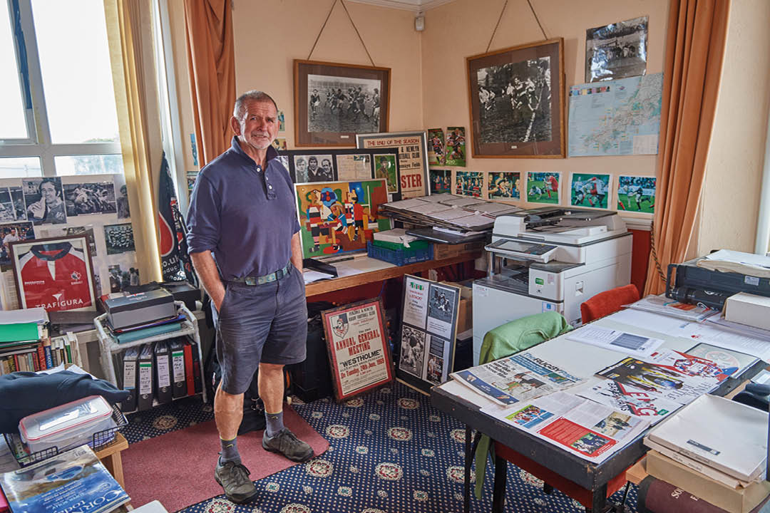 Phil Westren in his office, aka the Pirates 'museum' in Penzance.