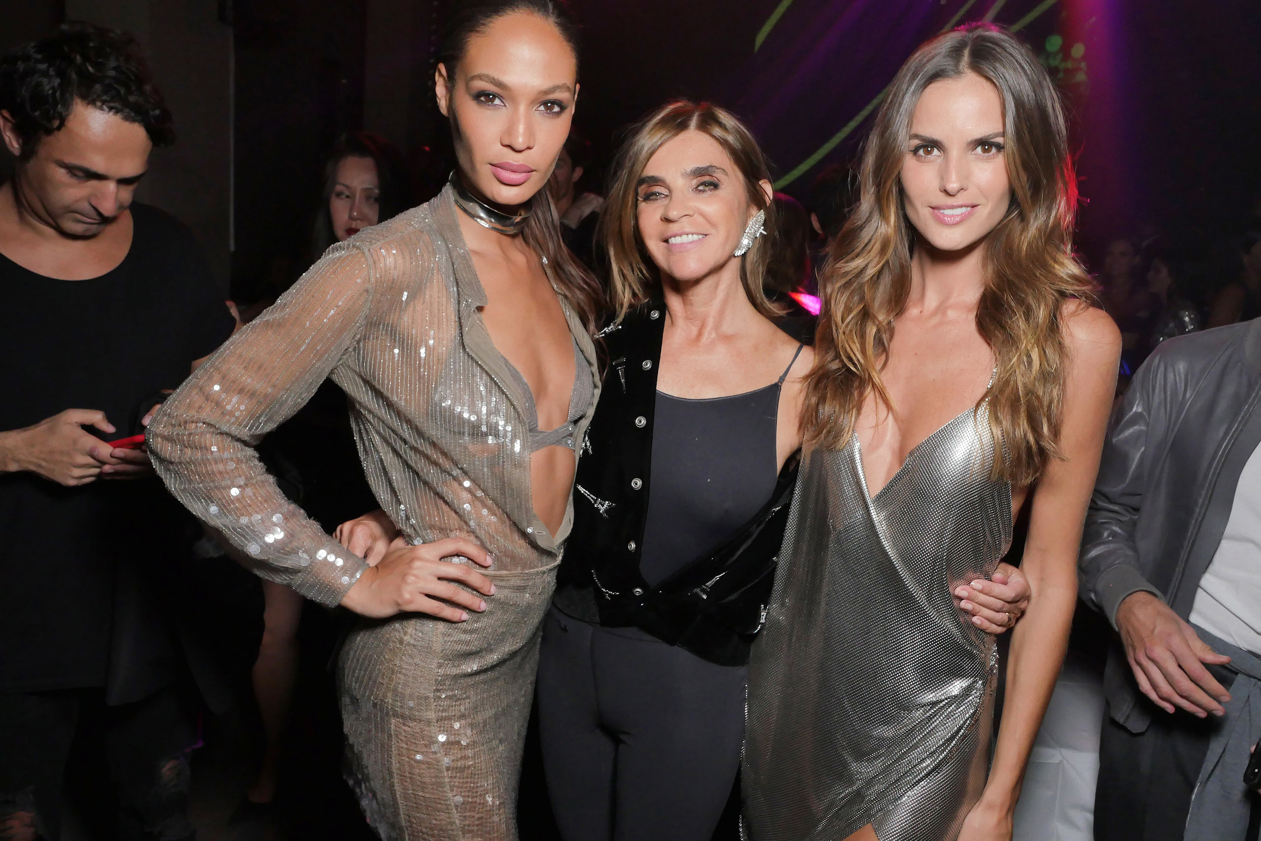 Carine with Joan Small and Izabel Goulart