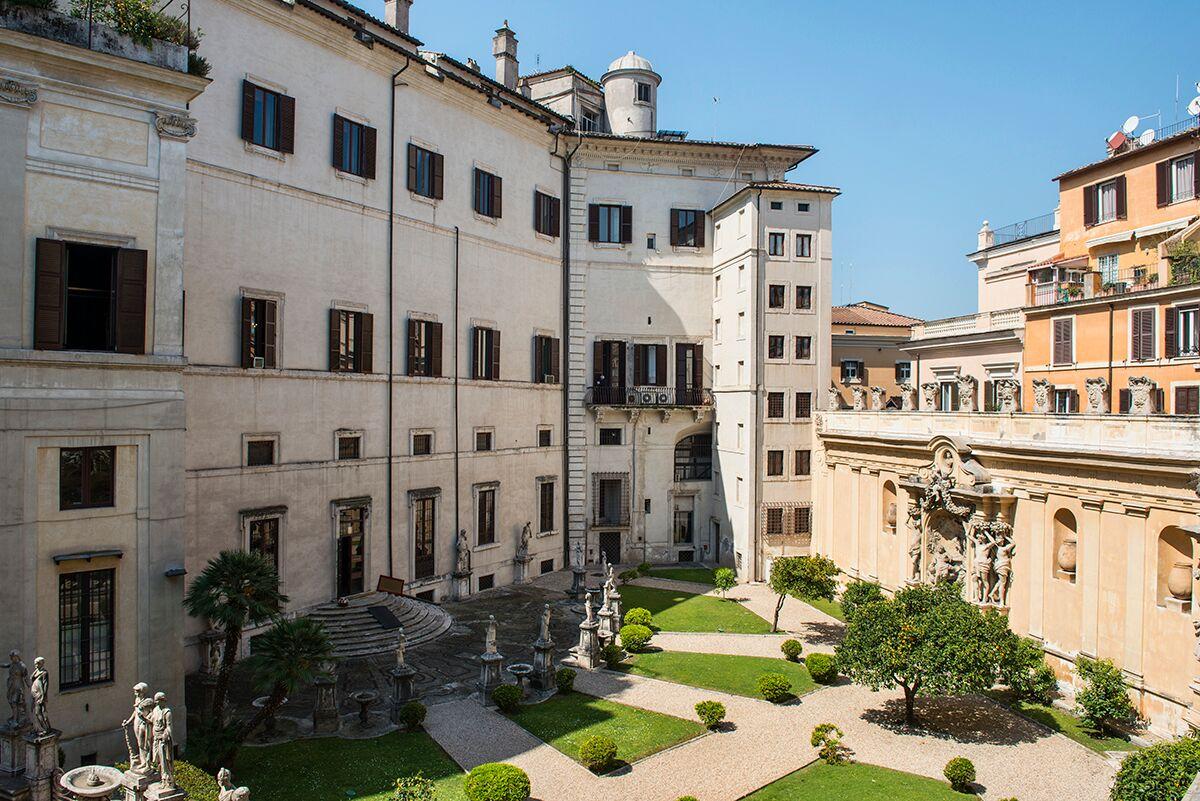 A view over Palazzo Borghese Garden