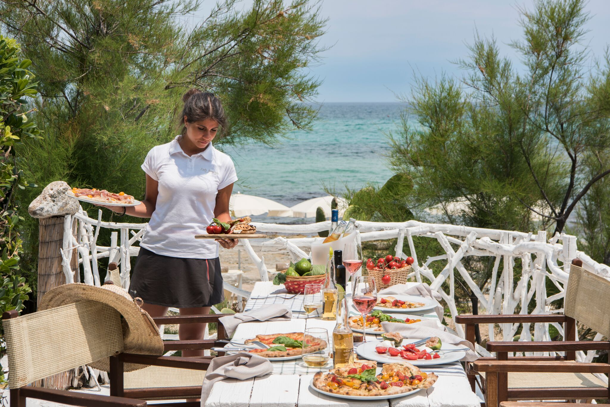 Pizza restaurant at  Il Melograno in Puglia, Italy
