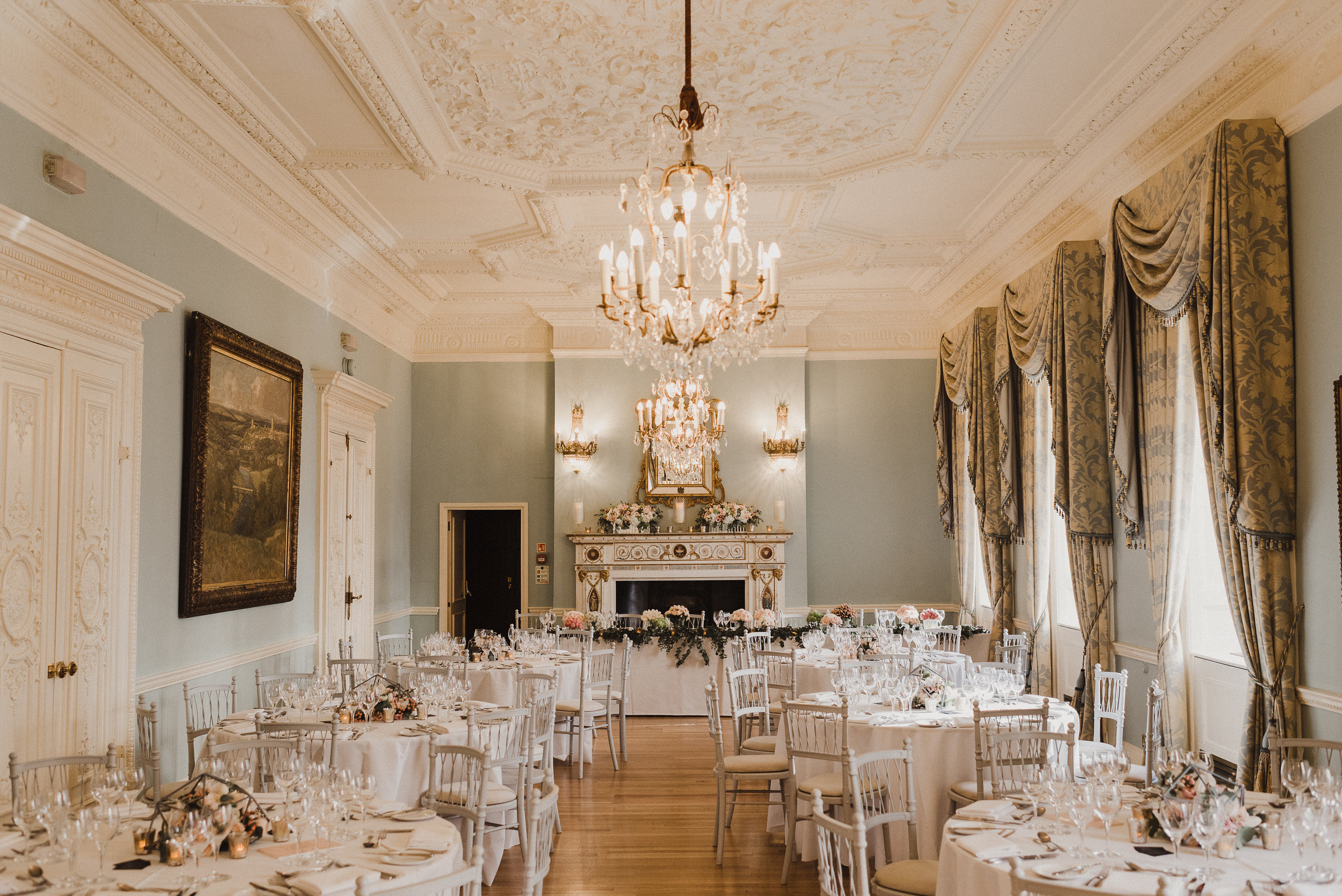 With its beautiful interiors, grand marble staircase and private courtyard, this elegant mansion in the heart of Mayfair is the perfect setting for an exclusive, quintessential London wedding.