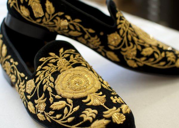 Slipper Embroidery | Hand & Lock at Edward Green