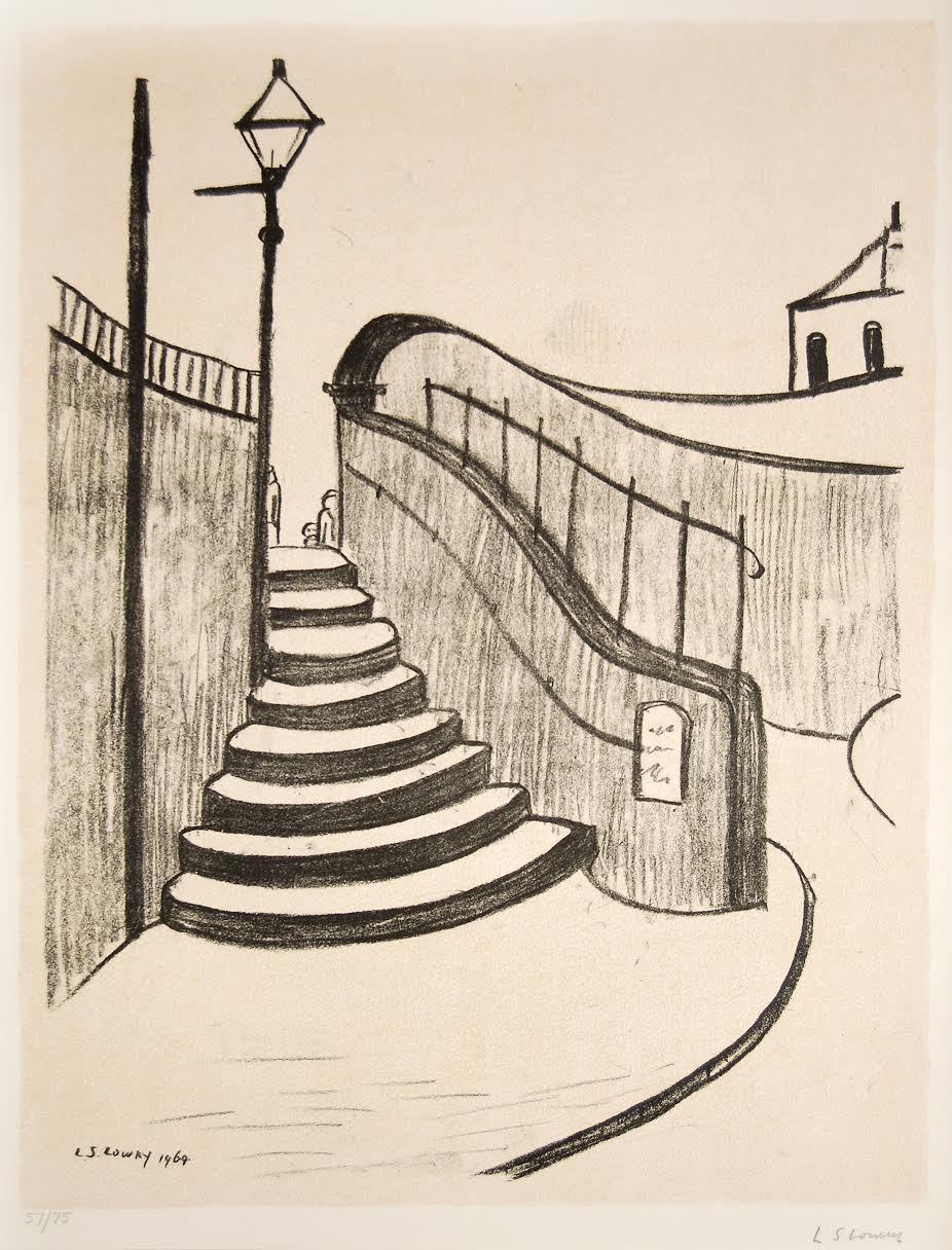 'Old Steps, Stockport', L.S. Lowry, 1969-70