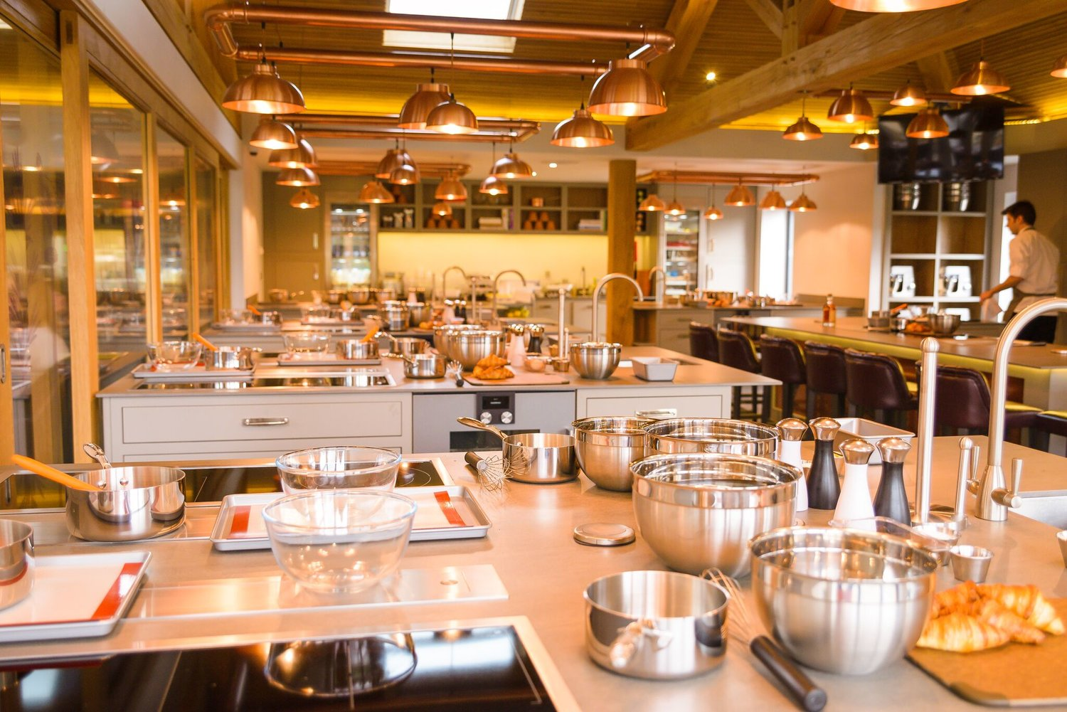 Home to The Kitchen's  Cookery School , booked guests are invited to learn new culinary skills and create considered masterpieces under the watchful eye of a Chef Tutor.