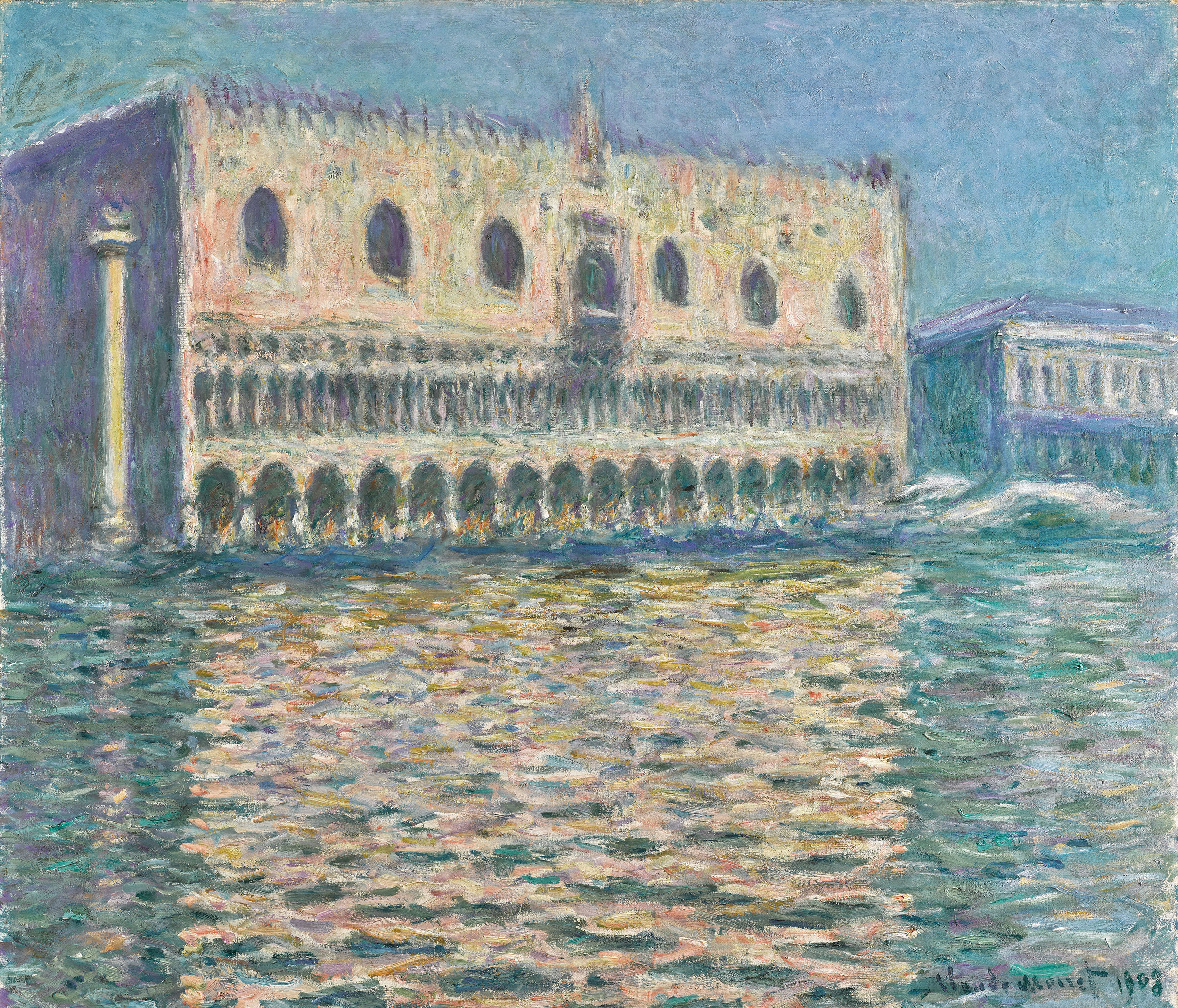 Lot 6 Claude Monet, Le Palais Ducal, oil on canvas, 1908 (est. £20,000,000-30,000,000)