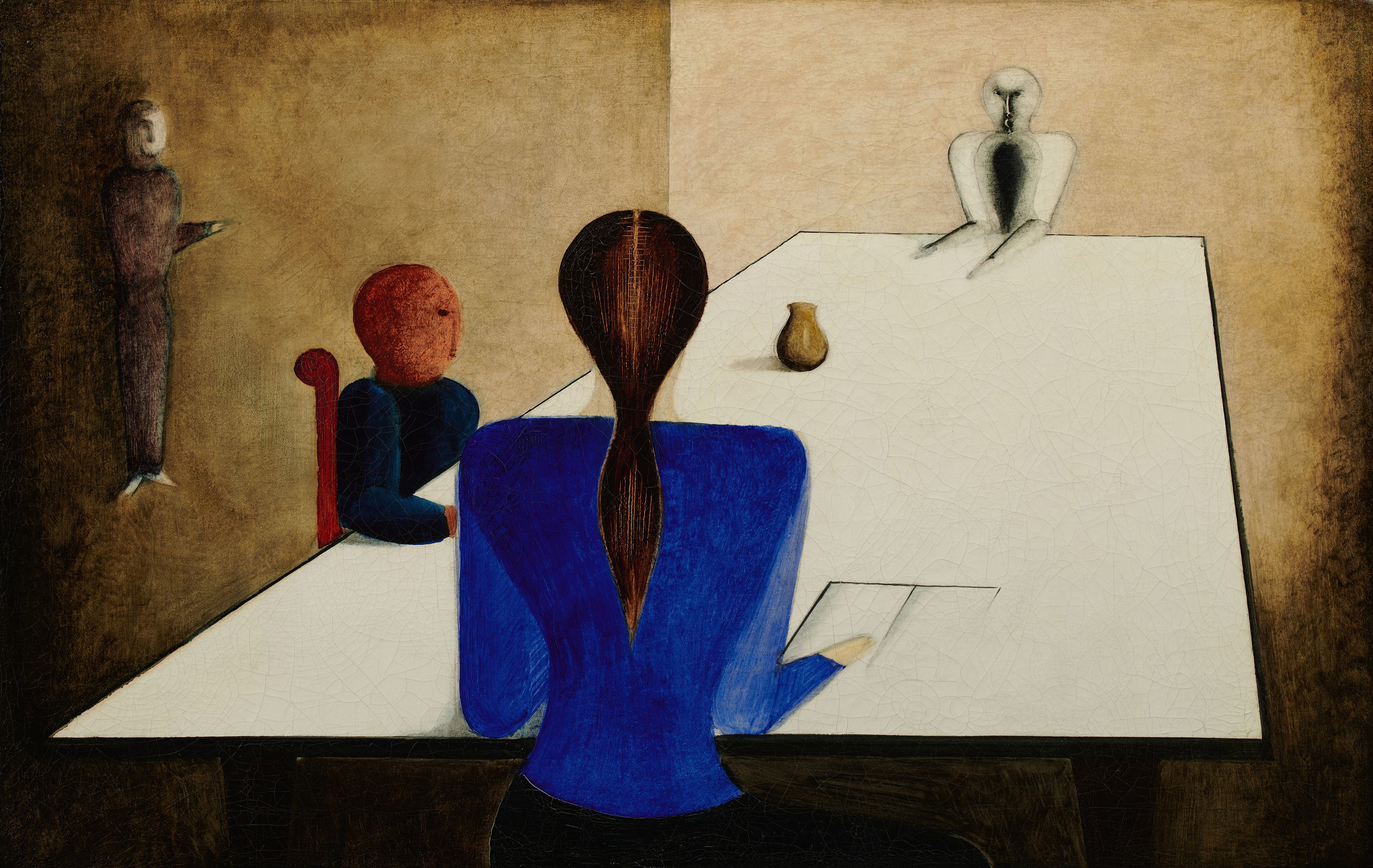 Lot 11 Oskar Schlemmer, Tischgesellschaft (Group at Table), 1923 (est. £1,000,000-1,500,000)