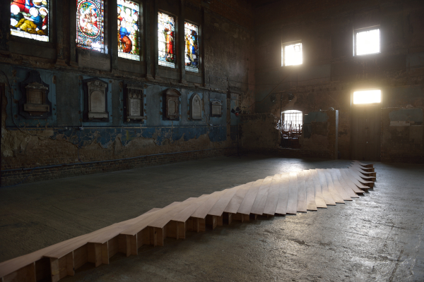 Joanna Sands,  Untitled,  the Asylum Chapel, plywood, (Image AK Purkiss) December 2014