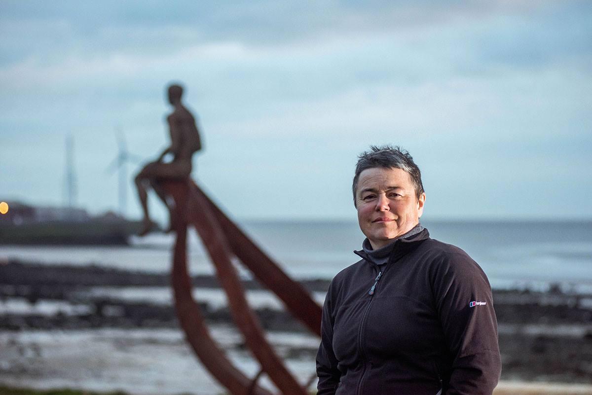 Anna Gillespie,  Ship , 2019, Half Moon Bay Heysham, photo by Robin Zahler