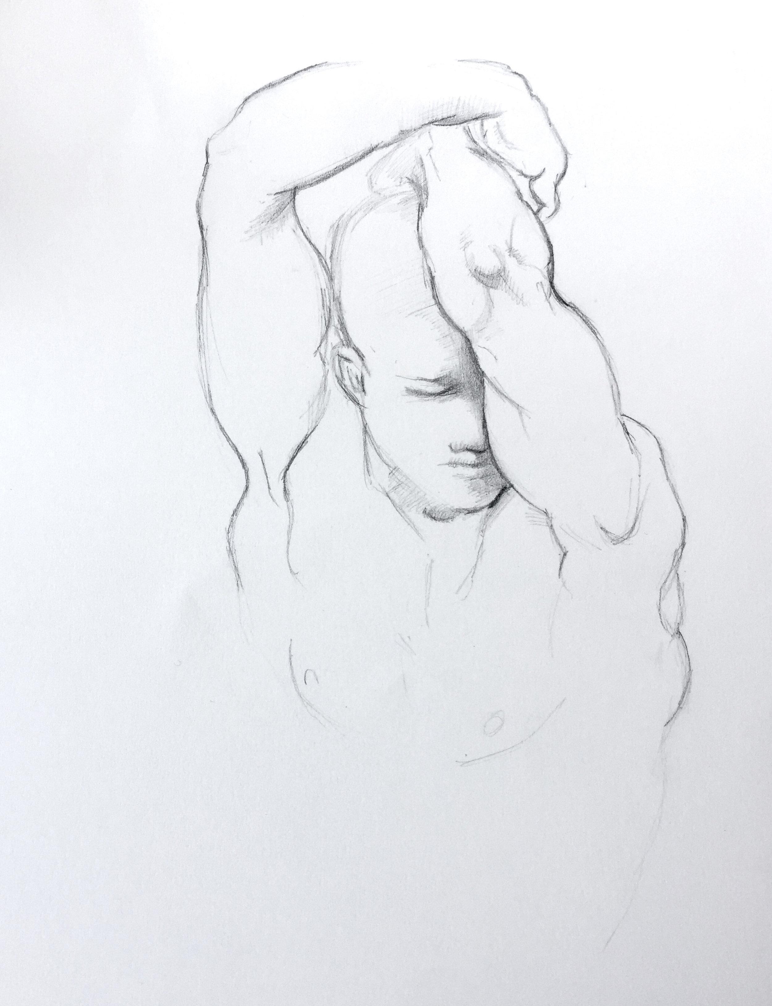 Marianne Walker, observation drawing after Raphael, 2019