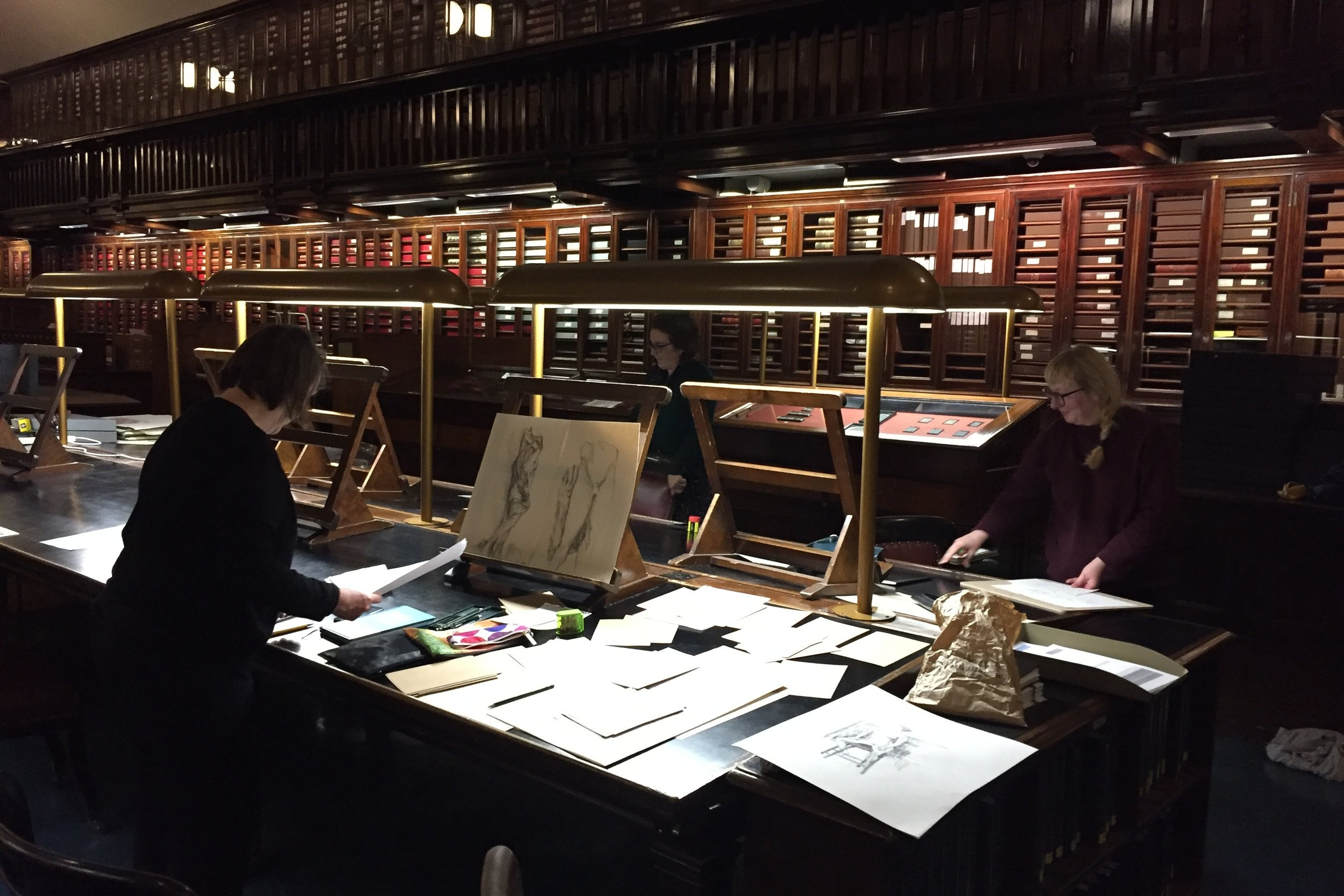 Tutor Jo Volley in the Prints and Drawings Room, British Museum