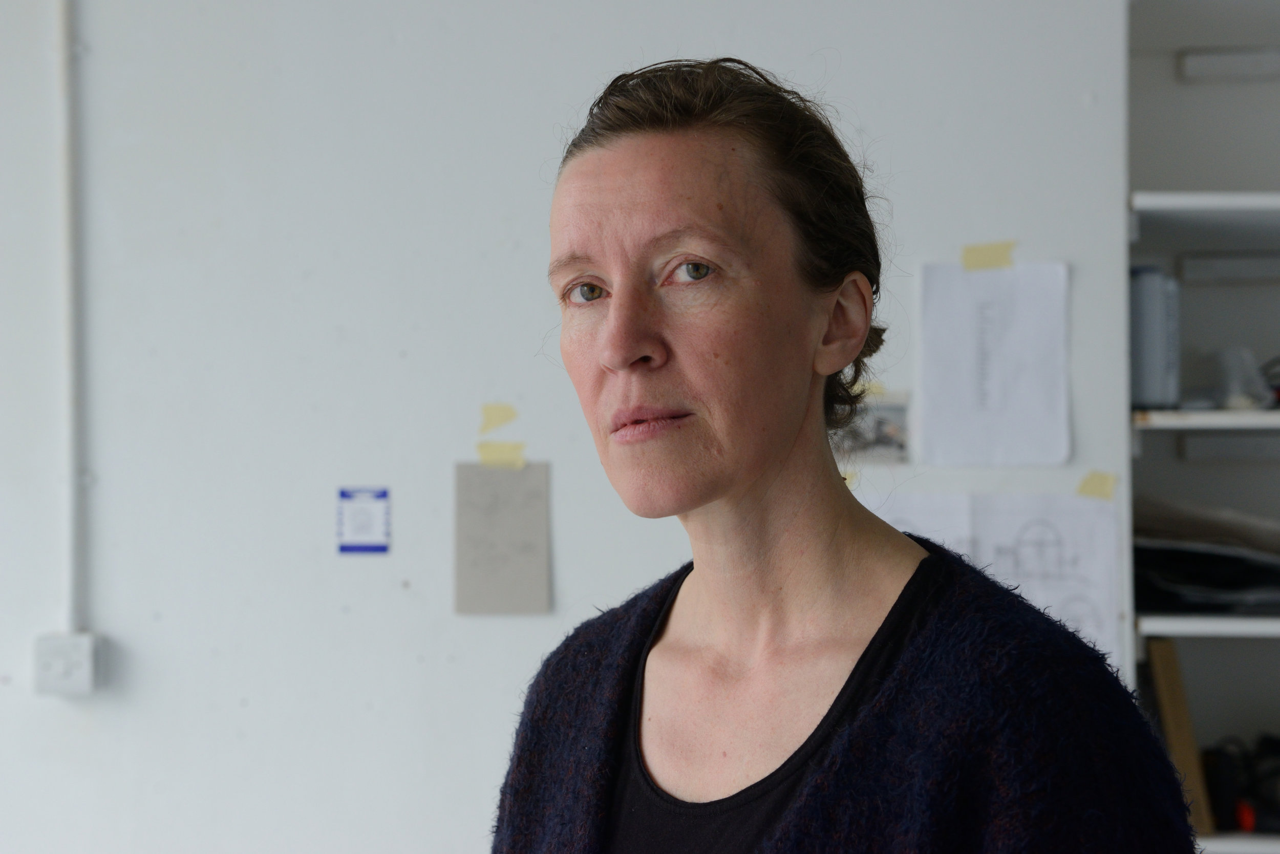 Hanna Haaslahti in the studio, photo by AK Purkiss